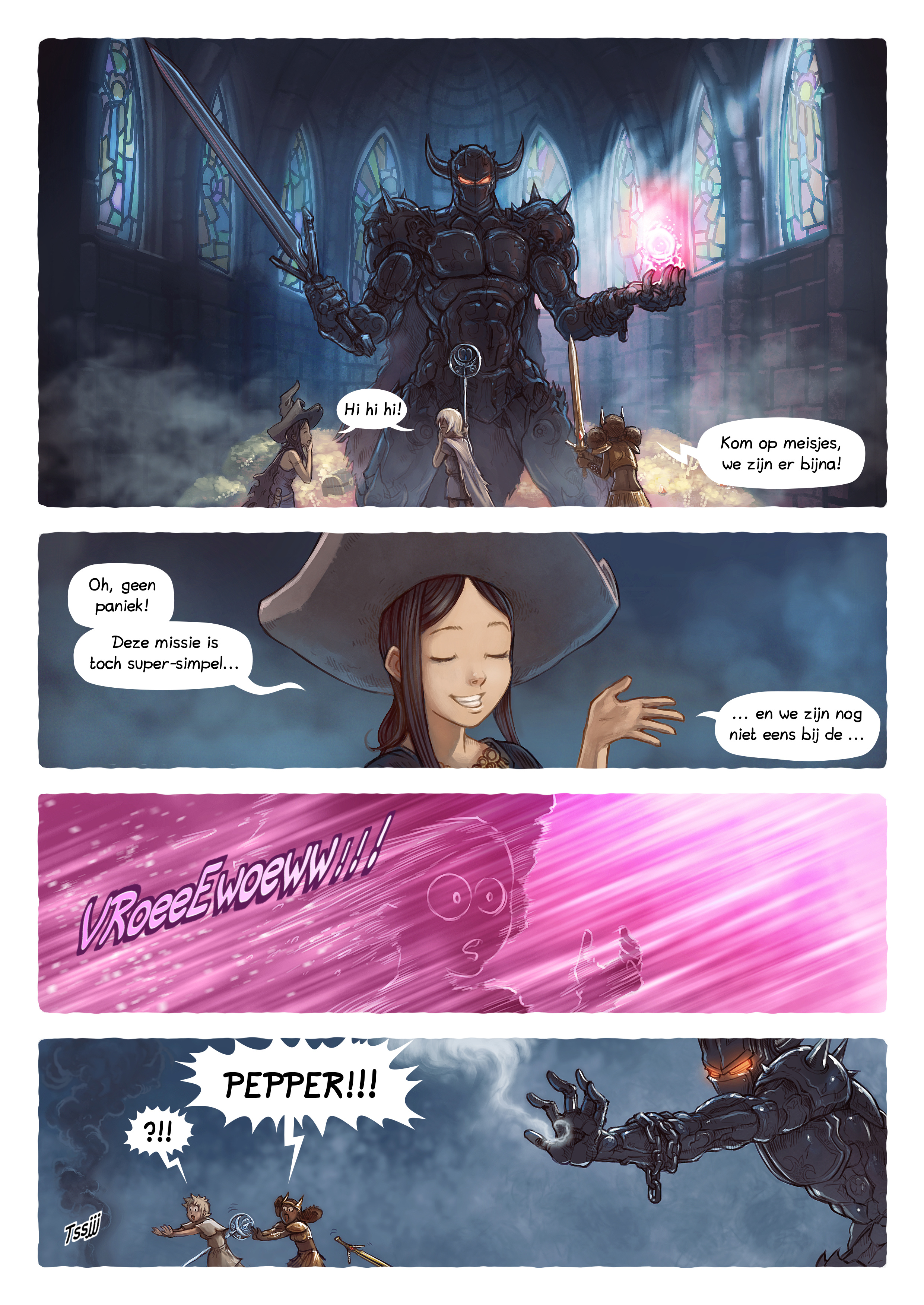 A webcomic page of Pepper&Carrot, aflevering 13 [nl], pagina 4