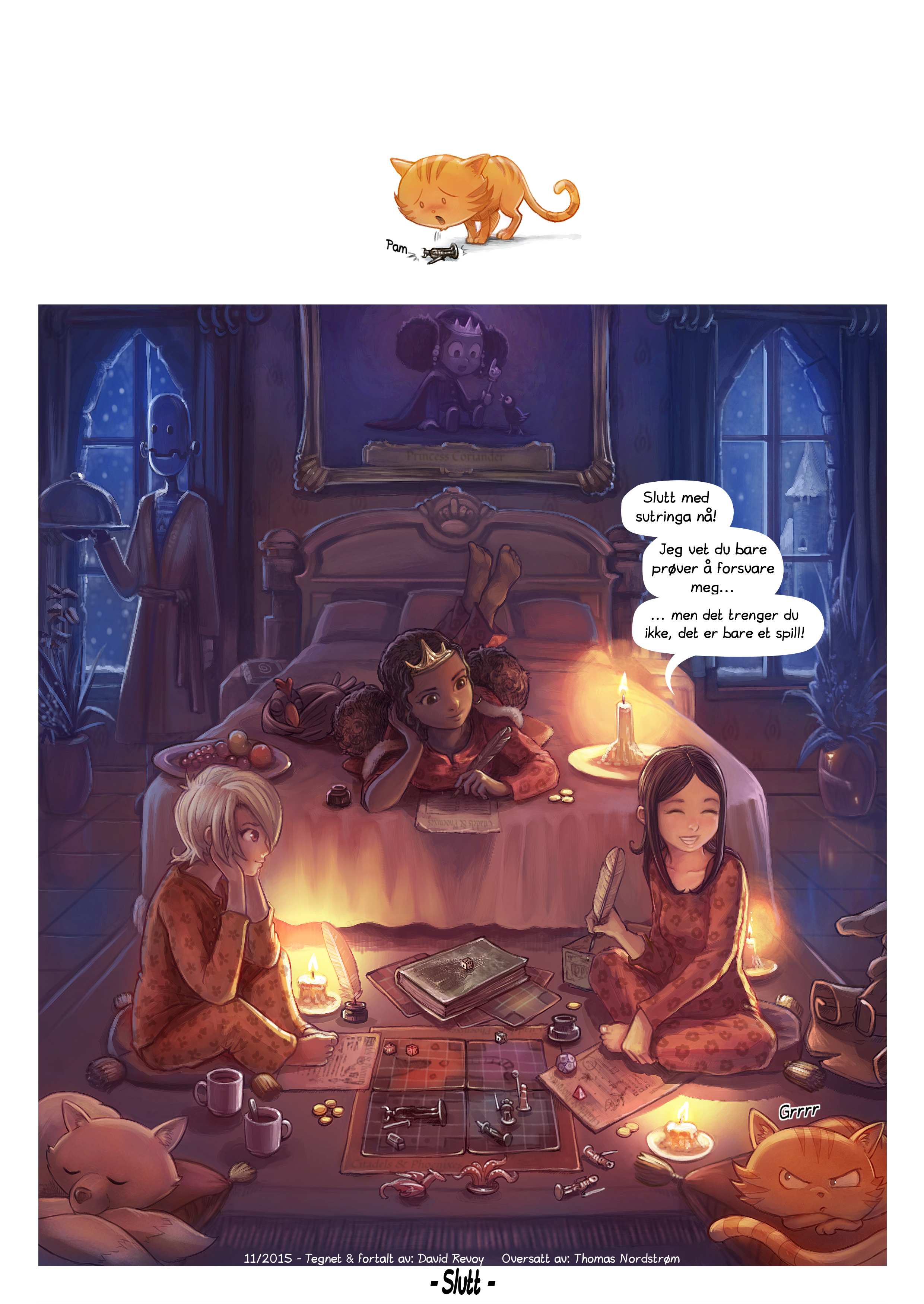 A webcomic page of Pepper&Carrot, episode 13 [no], side 6