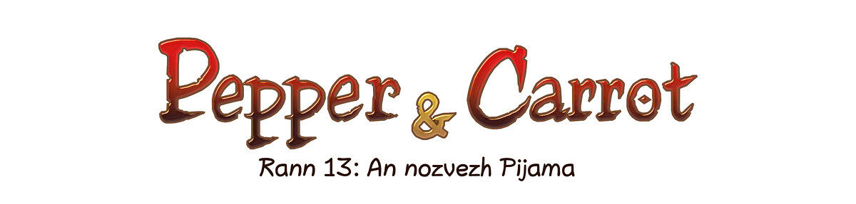 A webcomic page of Pepper&Carrot, rann 13 [br], pajenn 0