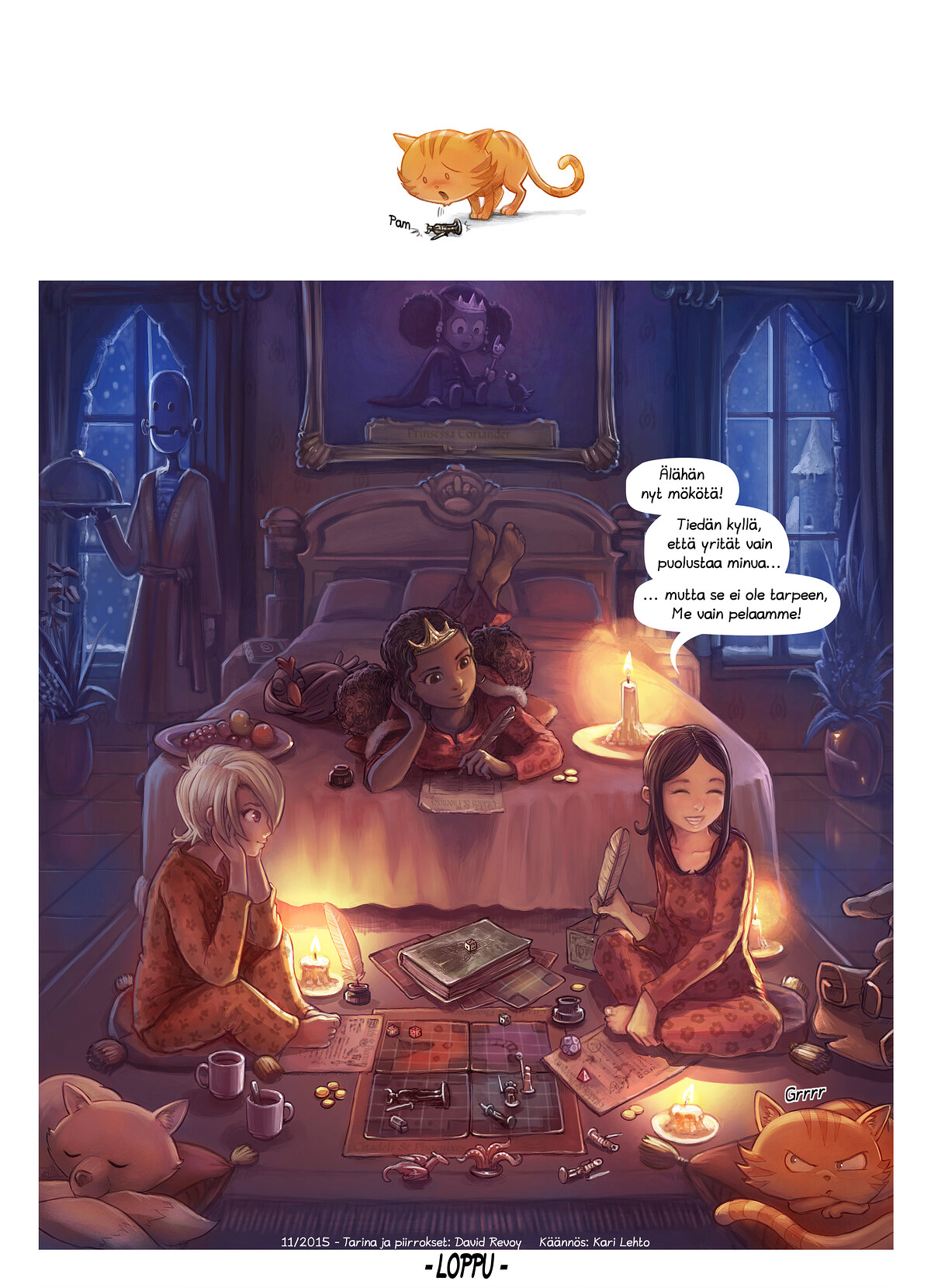 A webcomic page of Pepper&Carrot, episode 13 [fi], page 6