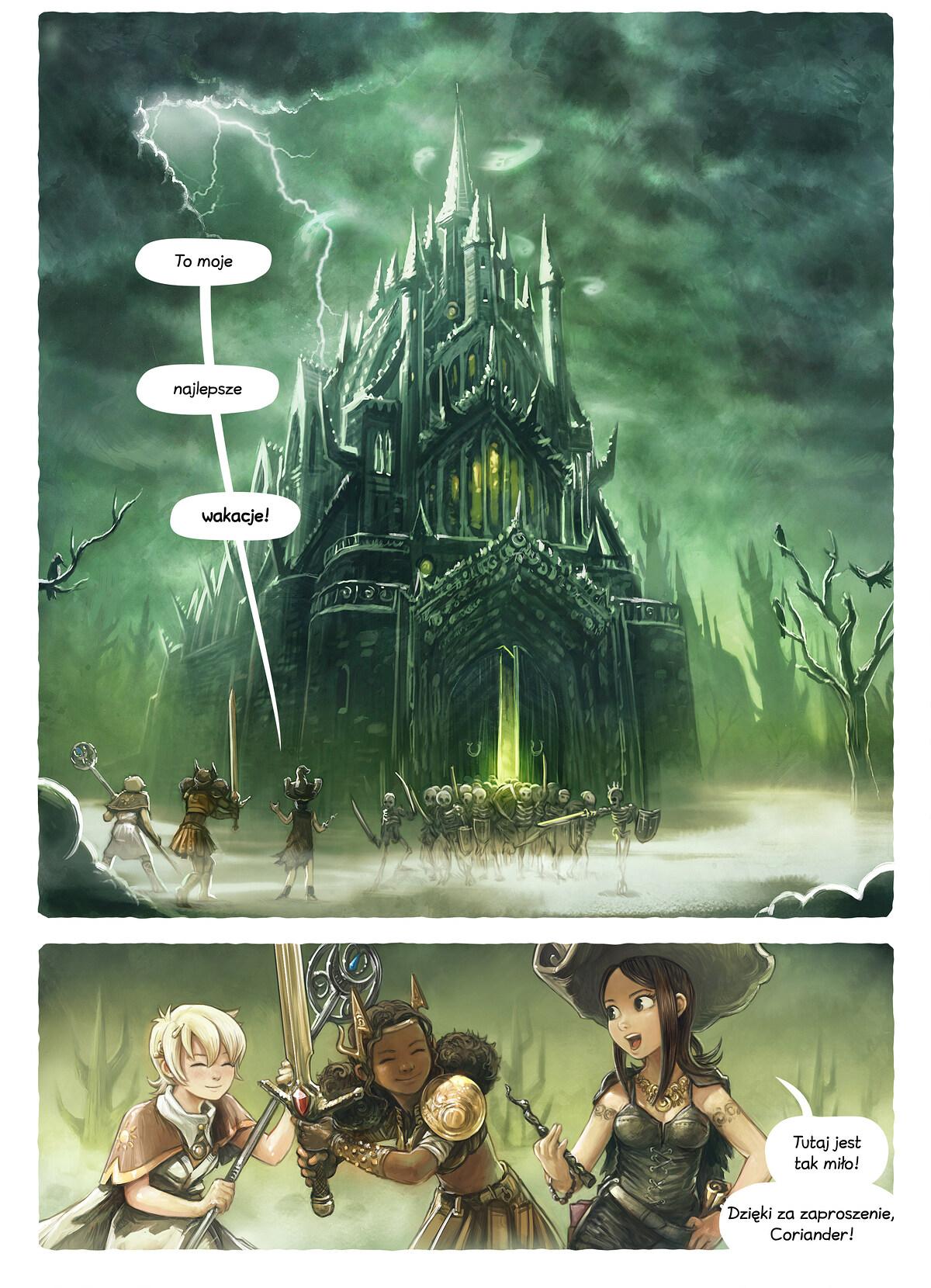 A webcomic page of Pepper&Carrot, odcinek 13 [pl], strona 1