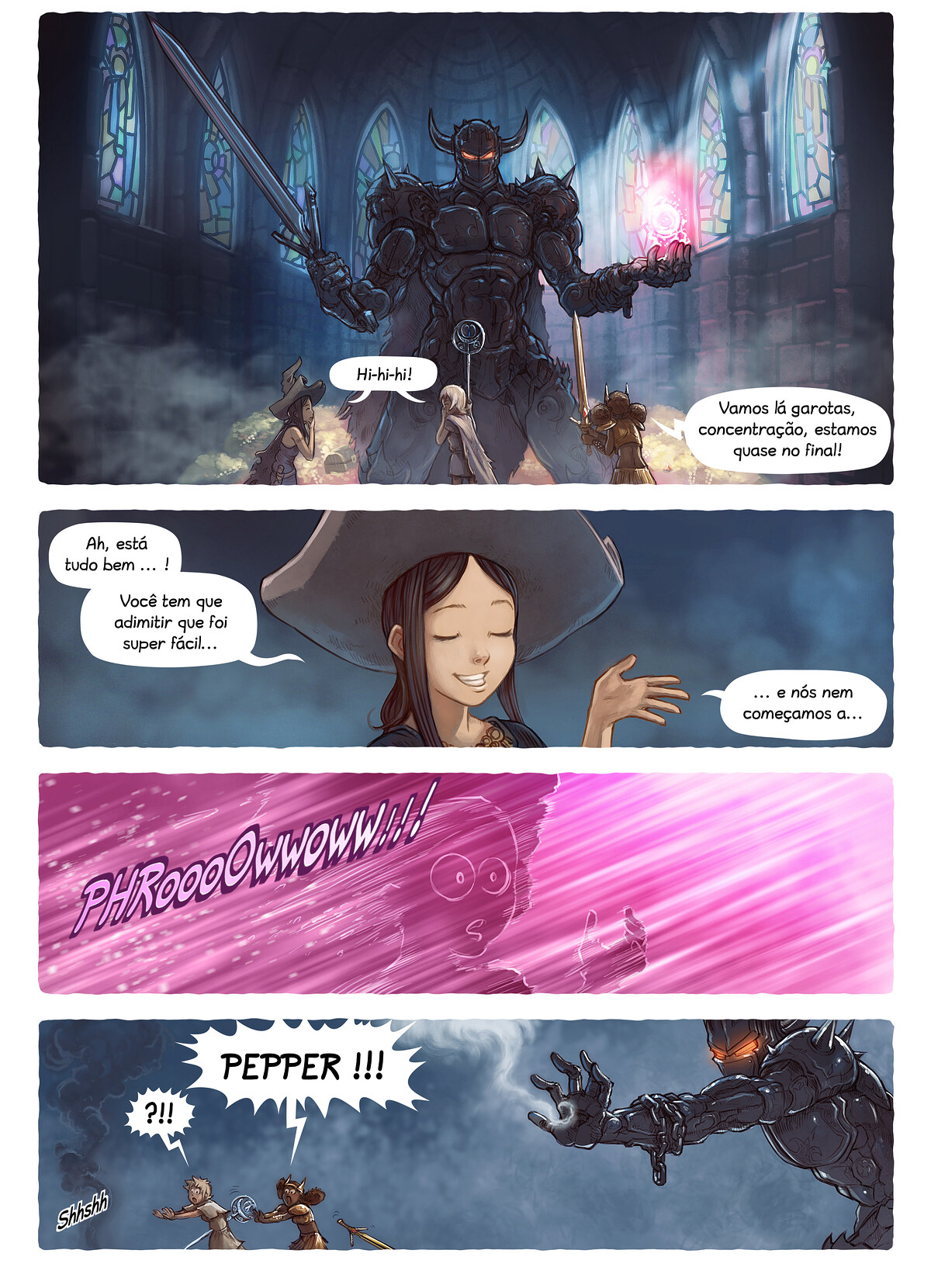 A webcomic page of Pepper&Carrot, episódio 13 [pt], página 4