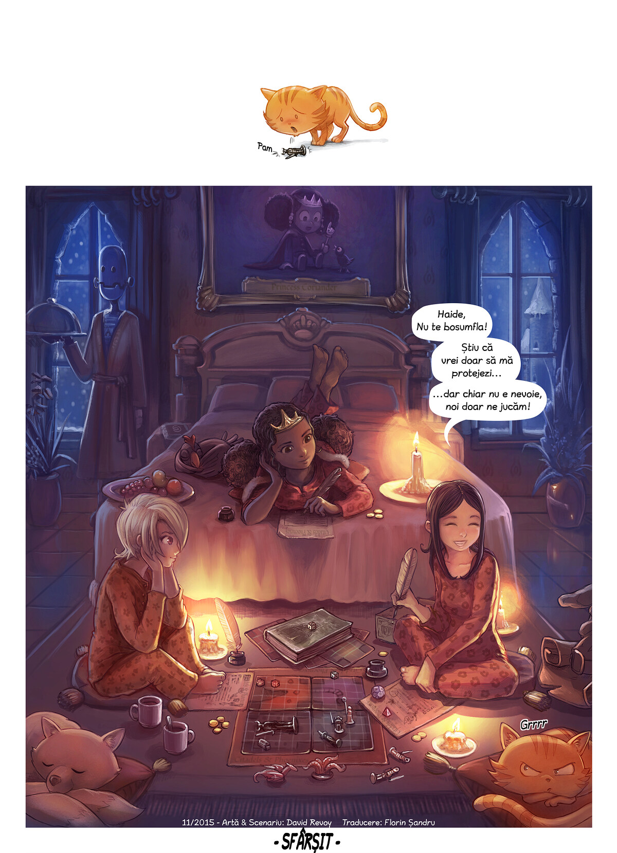 A webcomic page of Pepper&Carrot, episode 13 [ro], page 6
