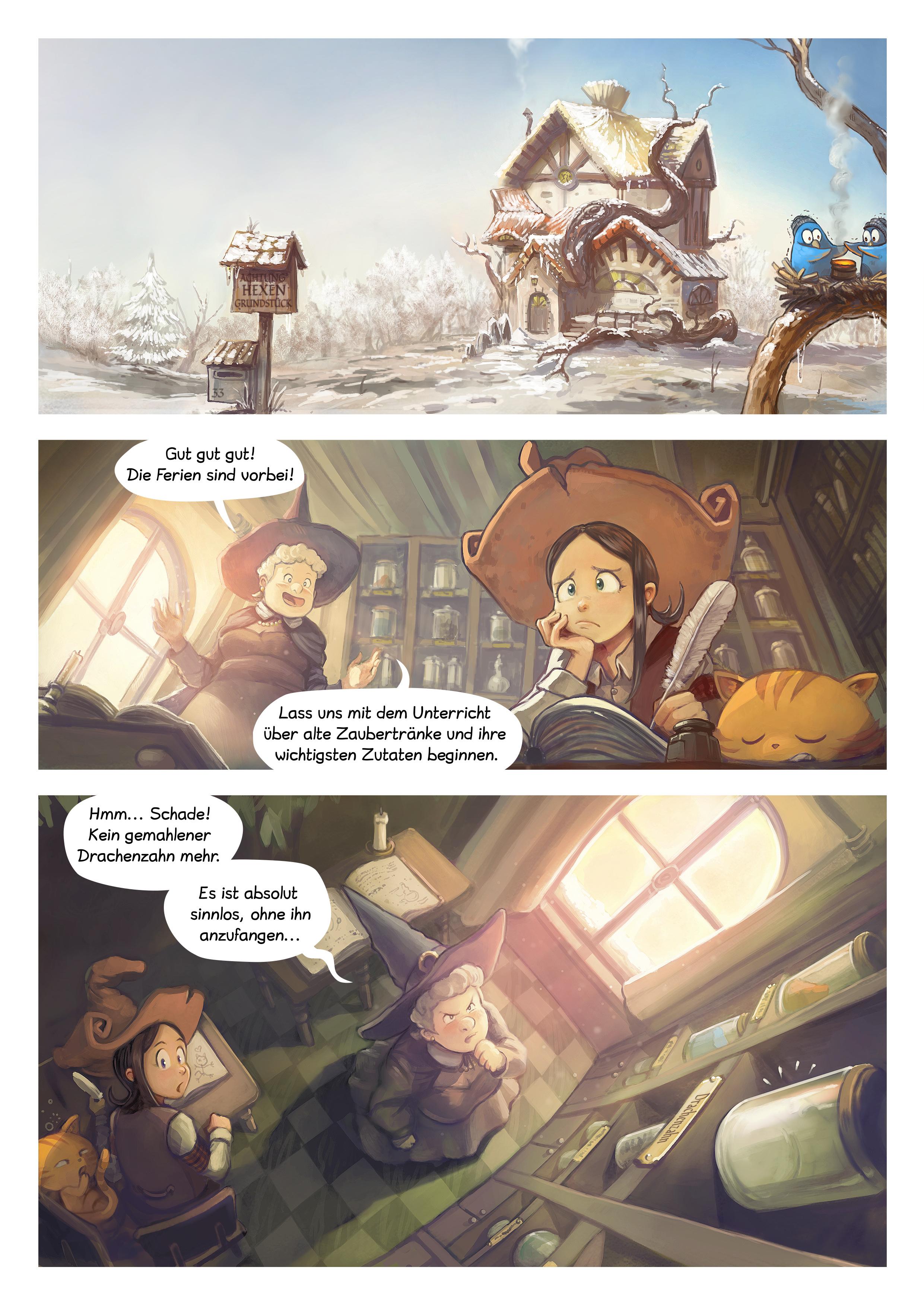 A webcomic page of Pepper&Carrot, Episode 14 [de], Seite 1