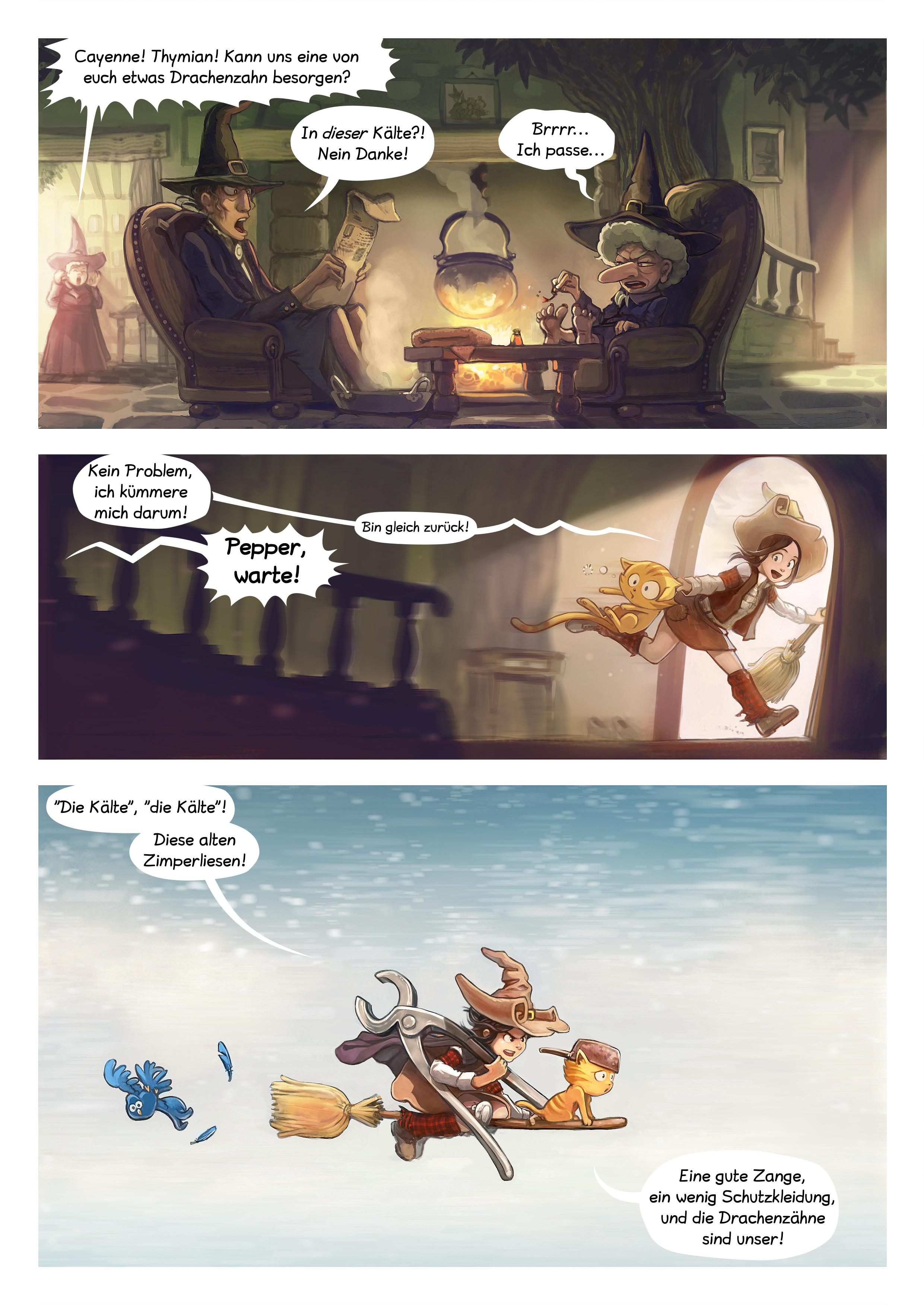 A webcomic page of Pepper&Carrot, Episode 14 [de], Seite 2