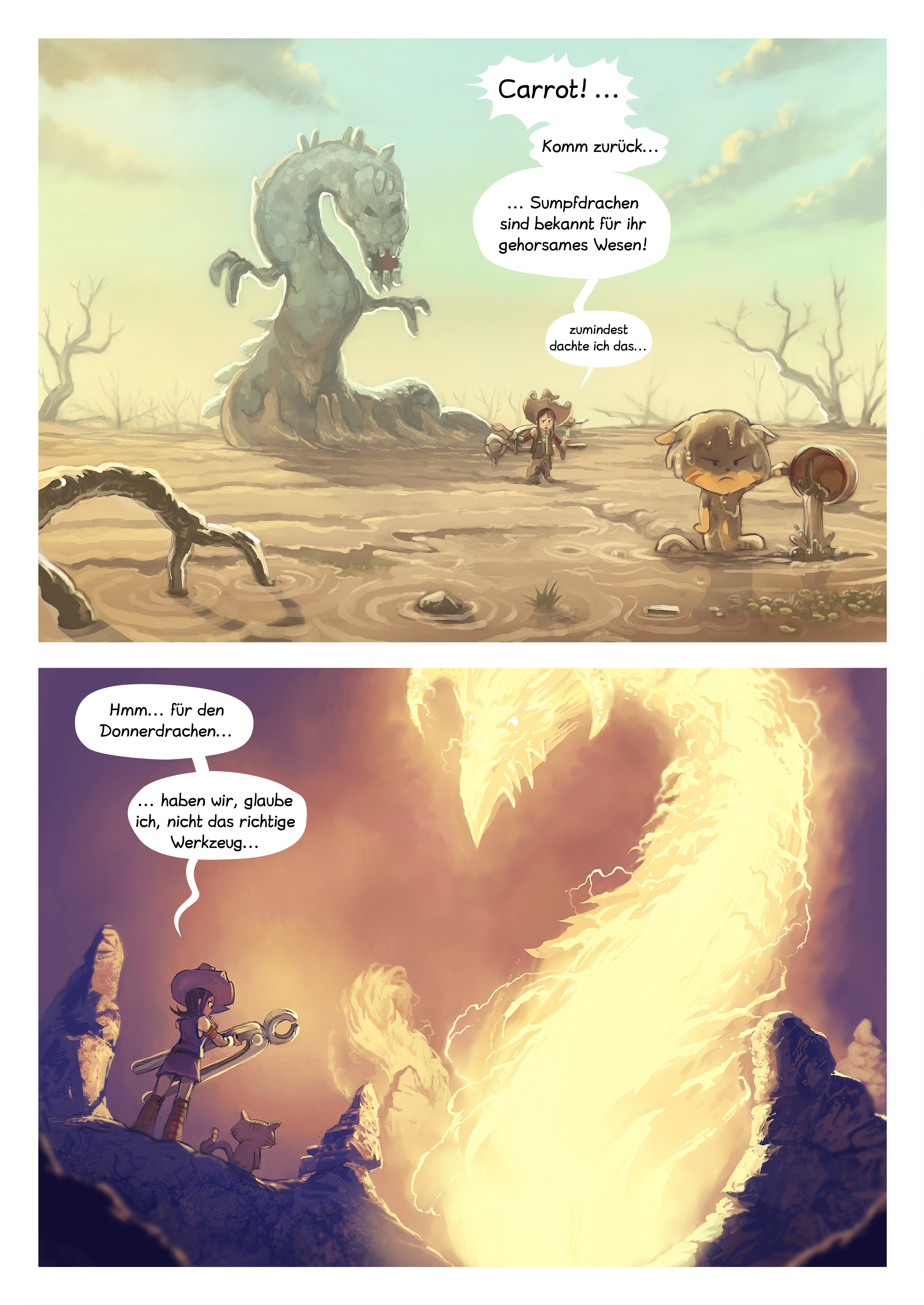 A webcomic page of Pepper&Carrot, Episode 14 [de], Seite 4