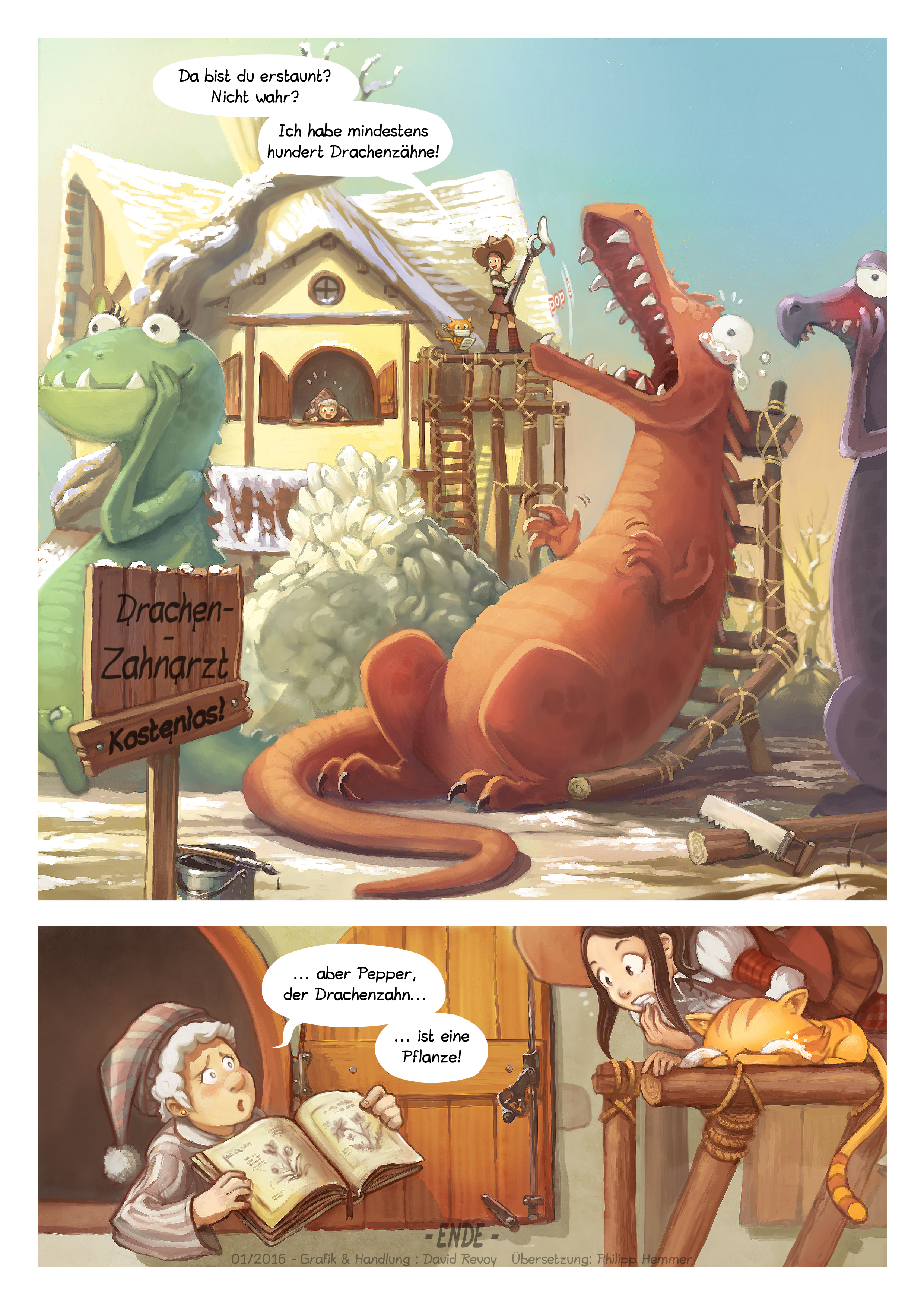 A webcomic page of Pepper&Carrot, Episode 14 [de], Seite 6