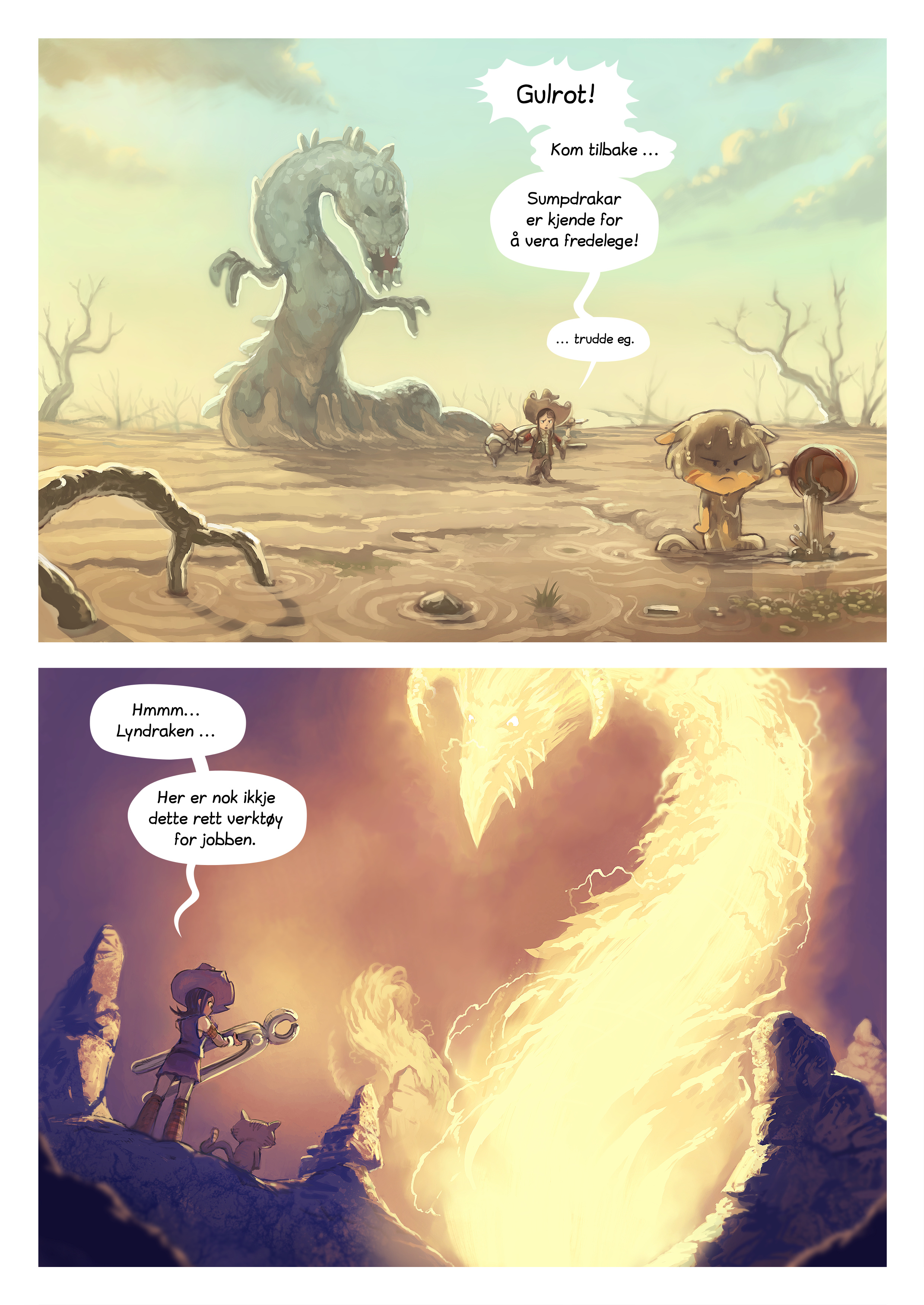 A webcomic page of Pepper&Carrot, episode 14 [nn], side 4
