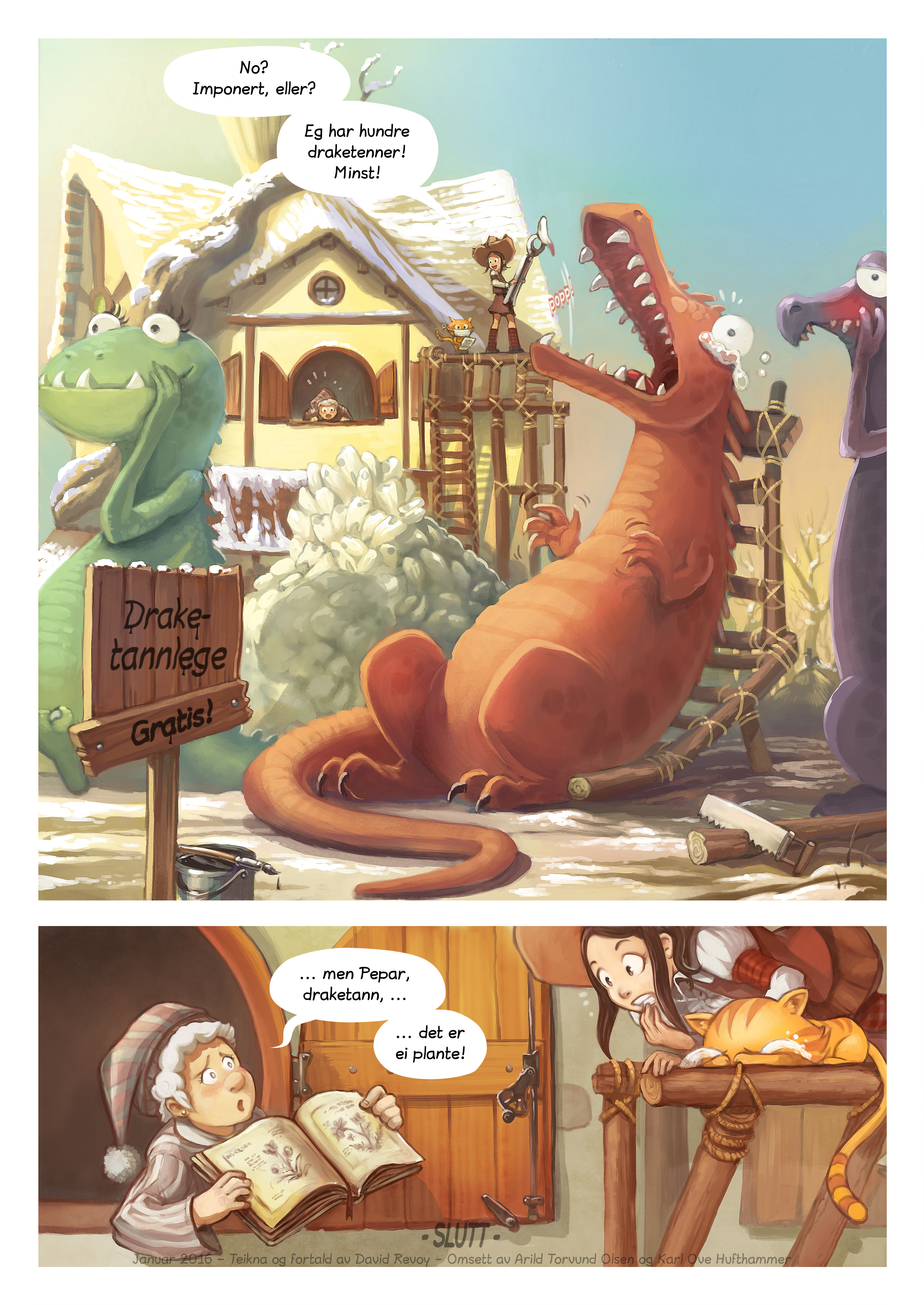 A webcomic page of Pepper&Carrot, episode 14 [nn], side 6