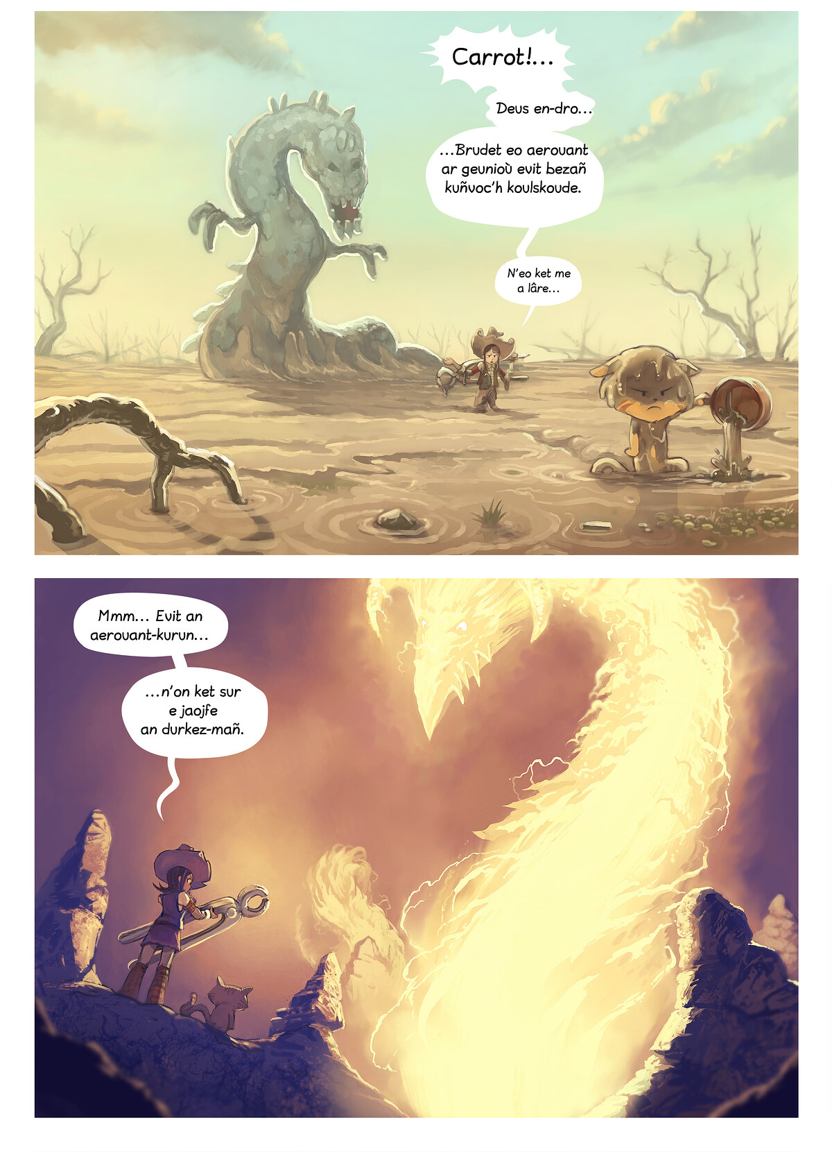 A webcomic page of Pepper&Carrot, rann 14 [br], pajenn 4