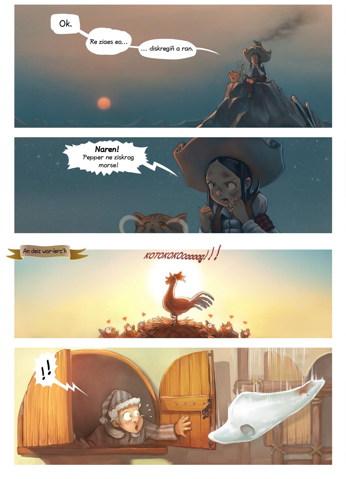 A webcomic page of Pepper&Carrot, rann 14 [br], pajenn 5