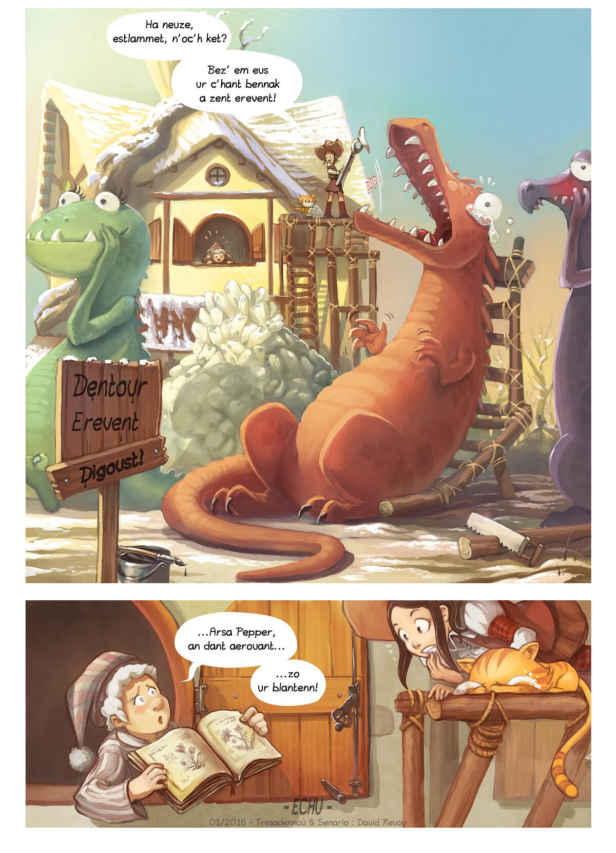 A webcomic page of Pepper&Carrot, rann 14 [br], pajenn 6