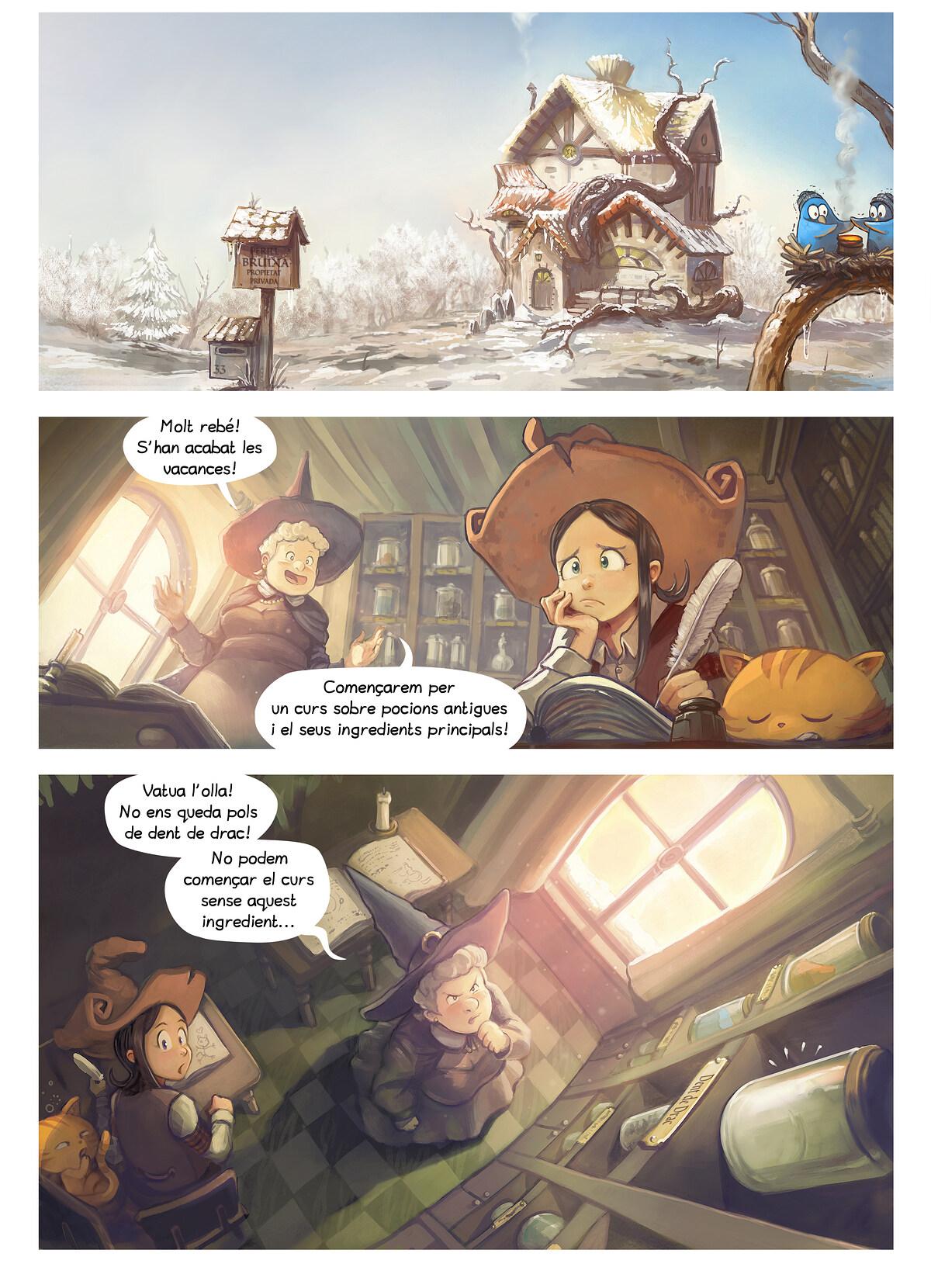 A webcomic page of Pepper&Carrot, episodi 14 [ca], pàgina 1