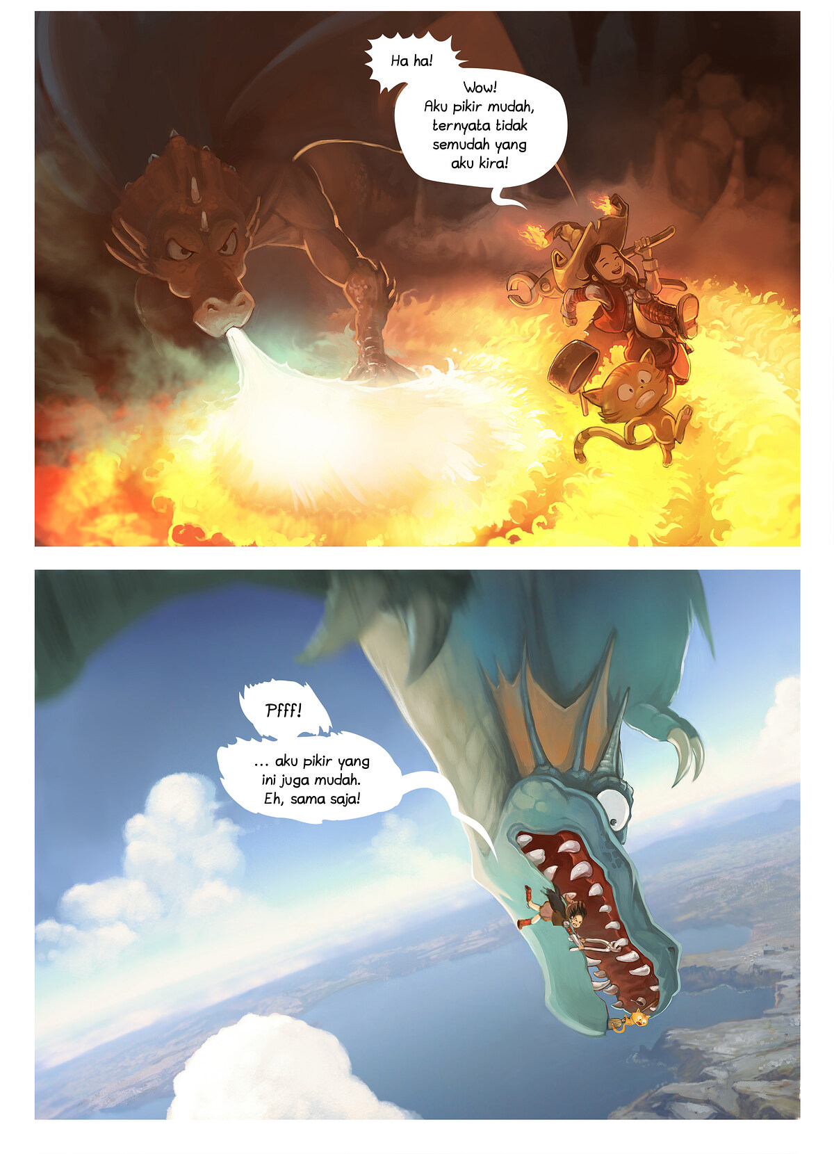 A webcomic page of Pepper&Carrot, episode 14 [id], halaman 3