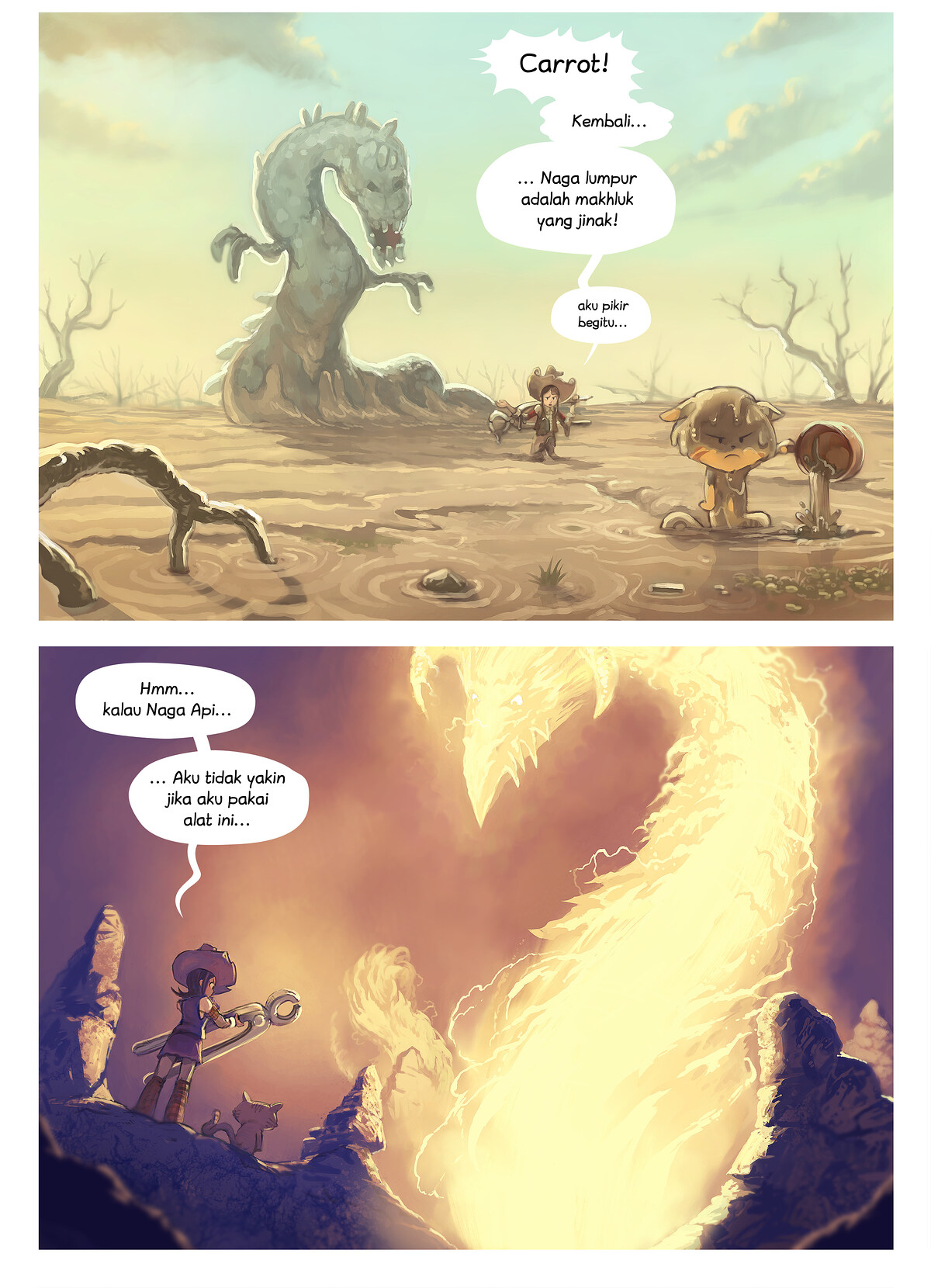 A webcomic page of Pepper&Carrot, episode 14 [id], halaman 4