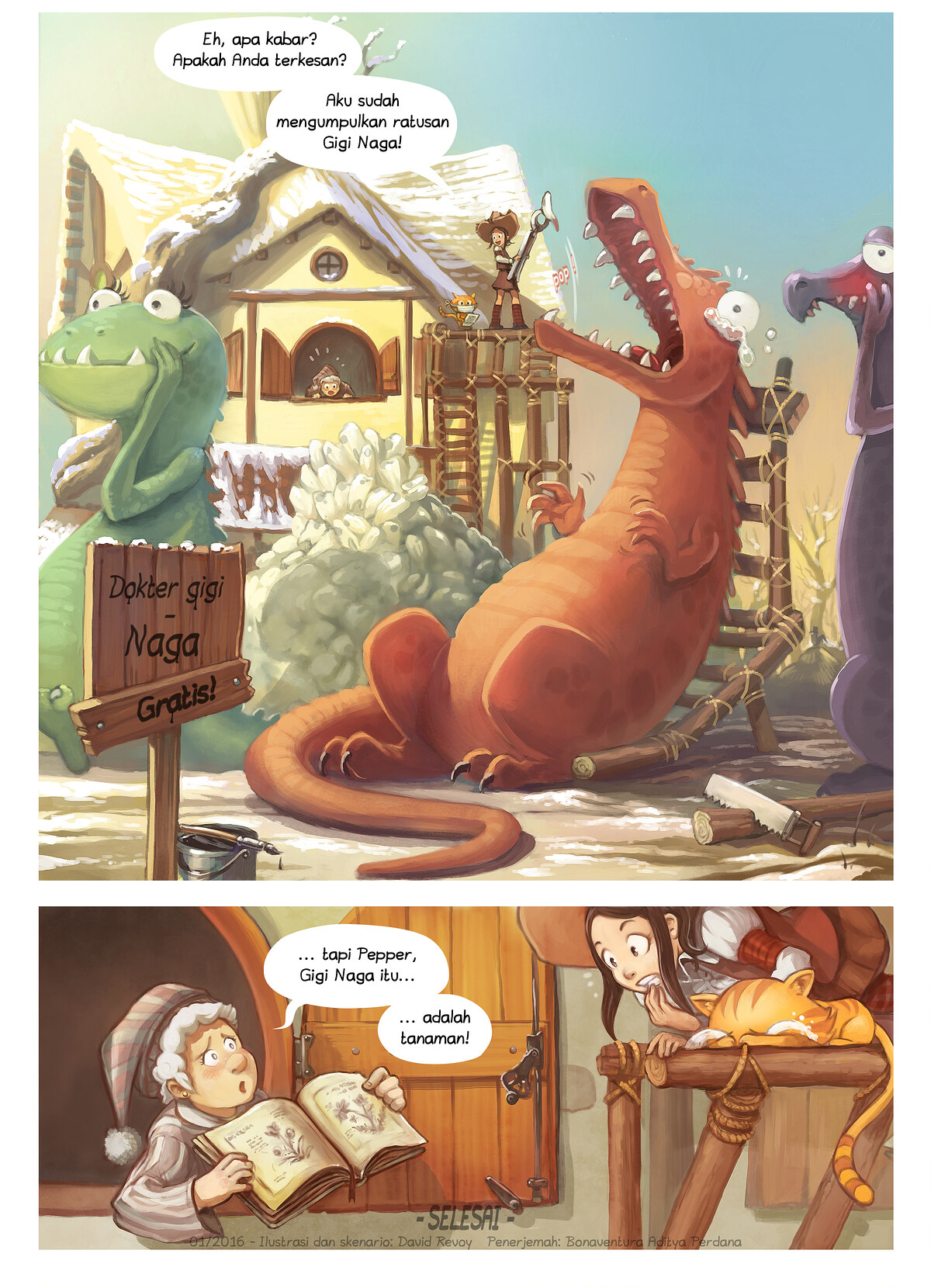 A webcomic page of Pepper&Carrot, episode 14 [id], halaman 6