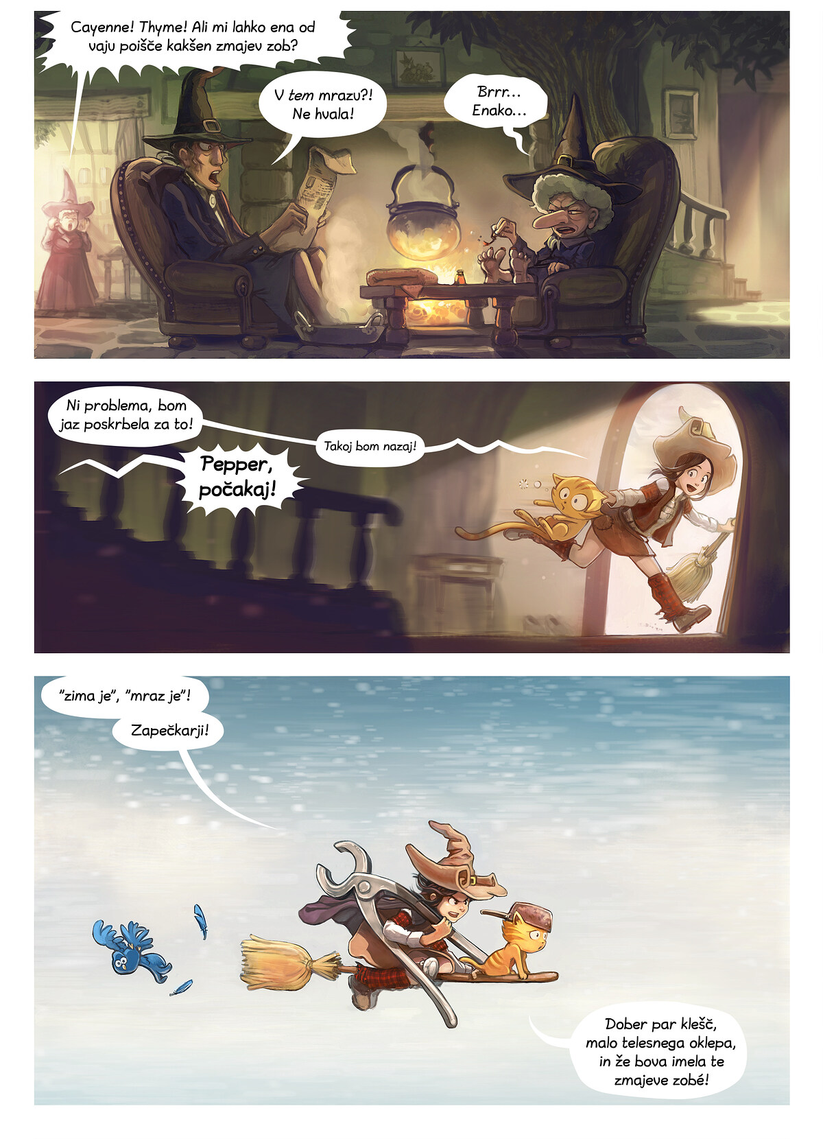 A webcomic page of Pepper&Carrot, epizoda 14 [sl], stran 2
