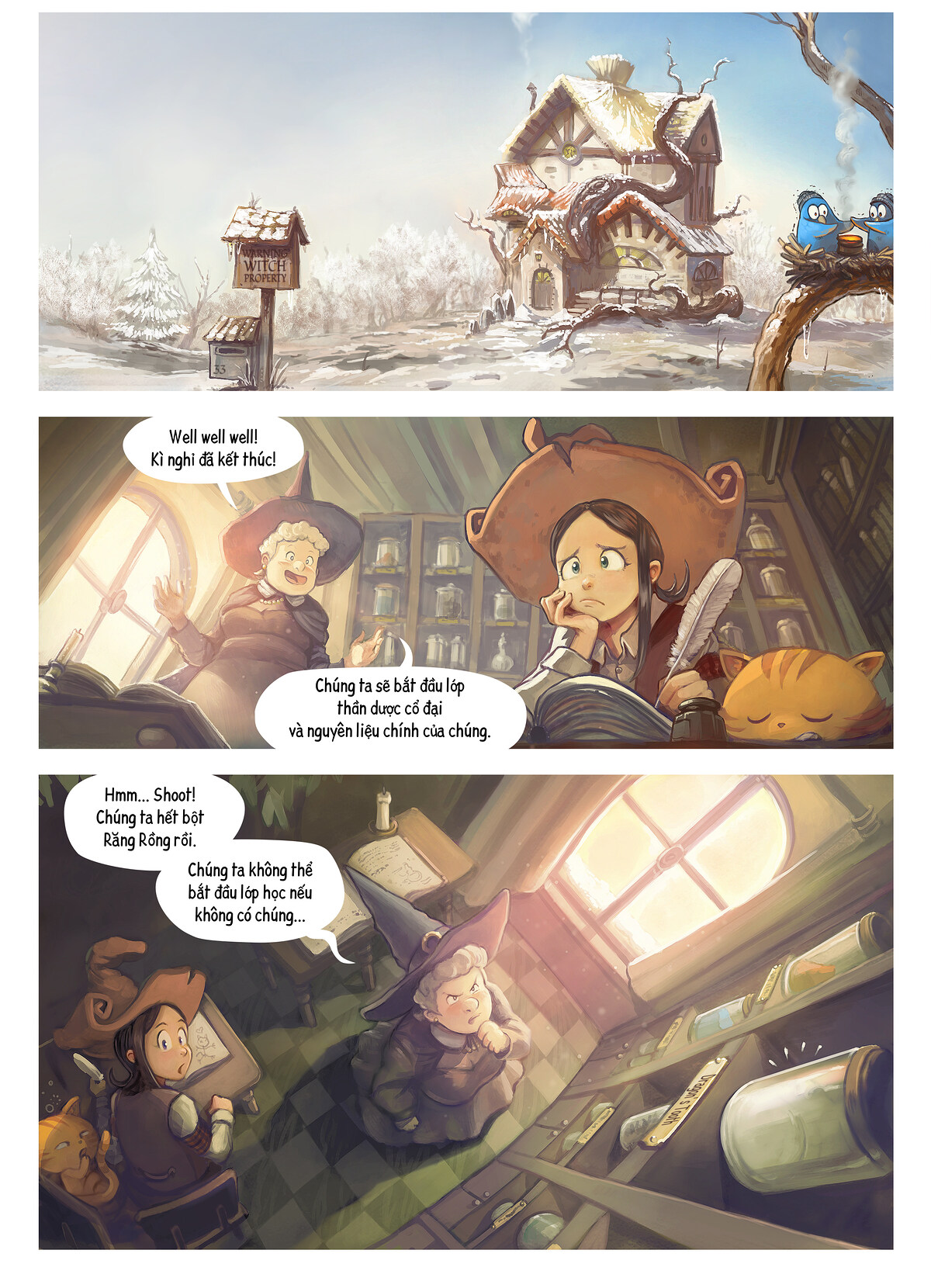 A webcomic page of Pepper&Carrot, Tập 14 [vi], trang 1