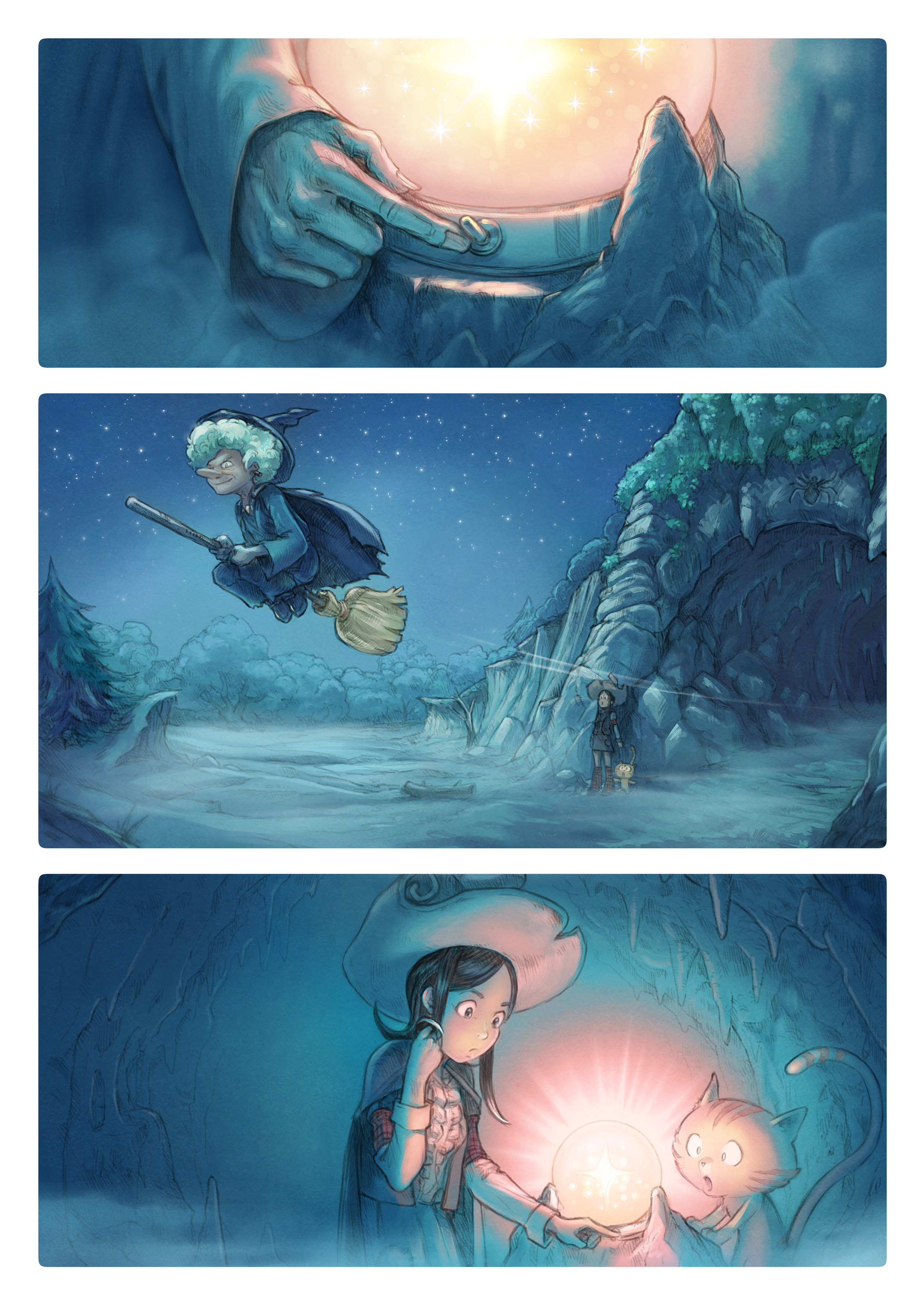 A webcomic page of Pepper&Carrot, episode 15 [go], page 2