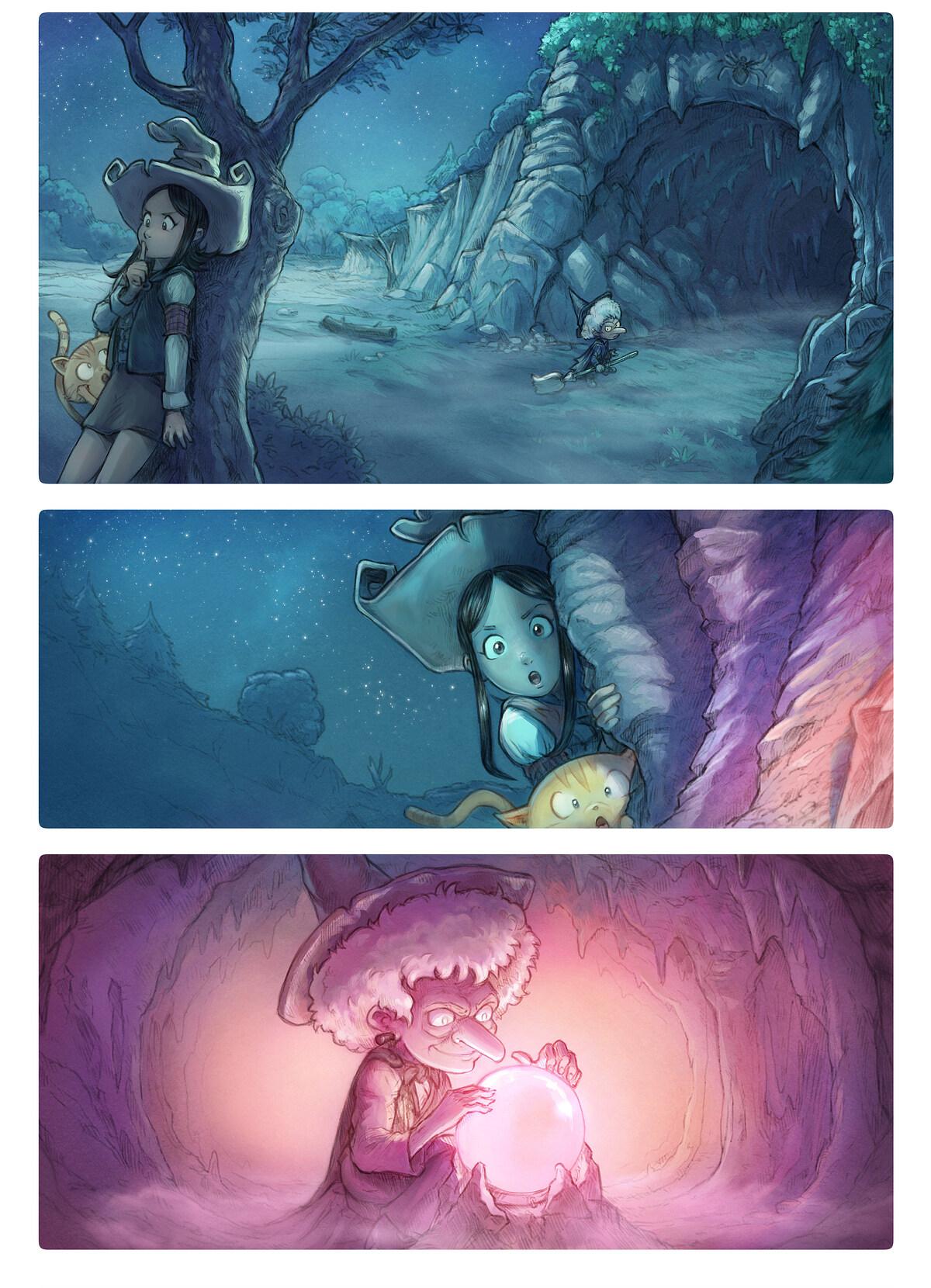 A webcomic page of Pepper&Carrot, epizód 1 , oldal 1