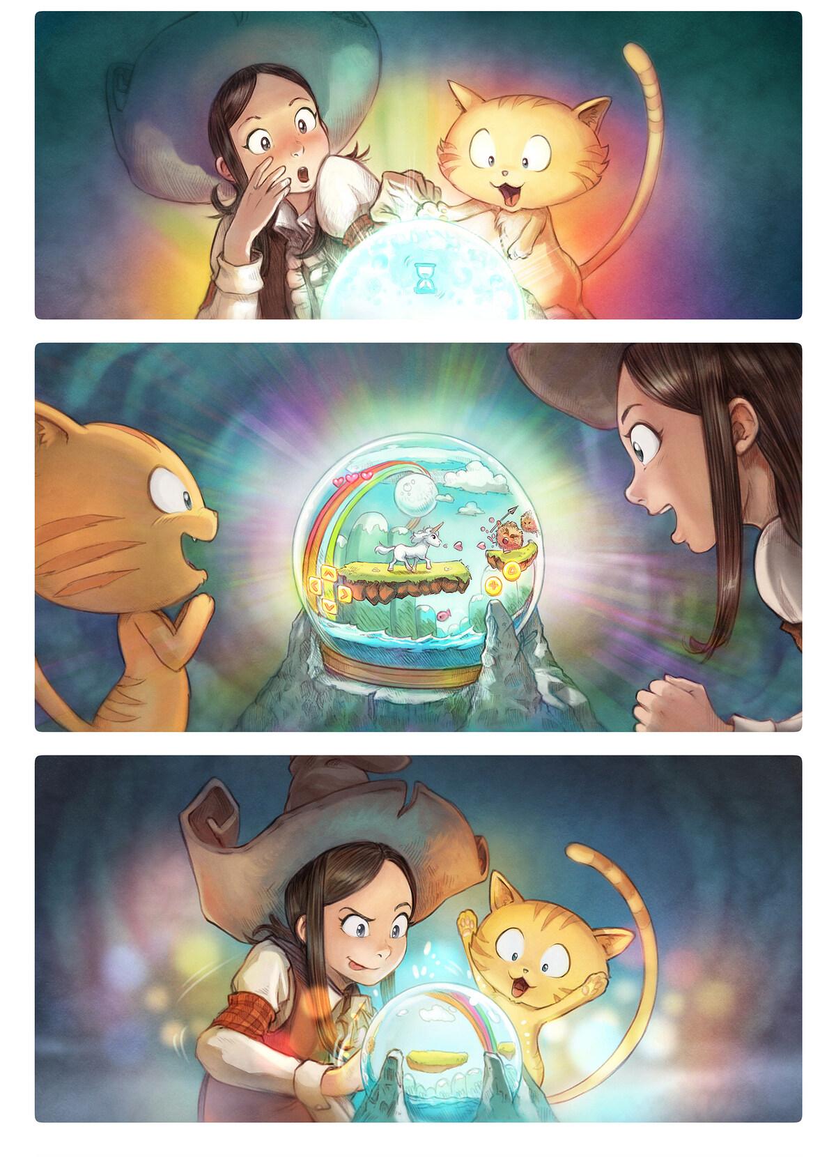 A webcomic page of Pepper&Carrot, epizód 15 [hu], oldal 4