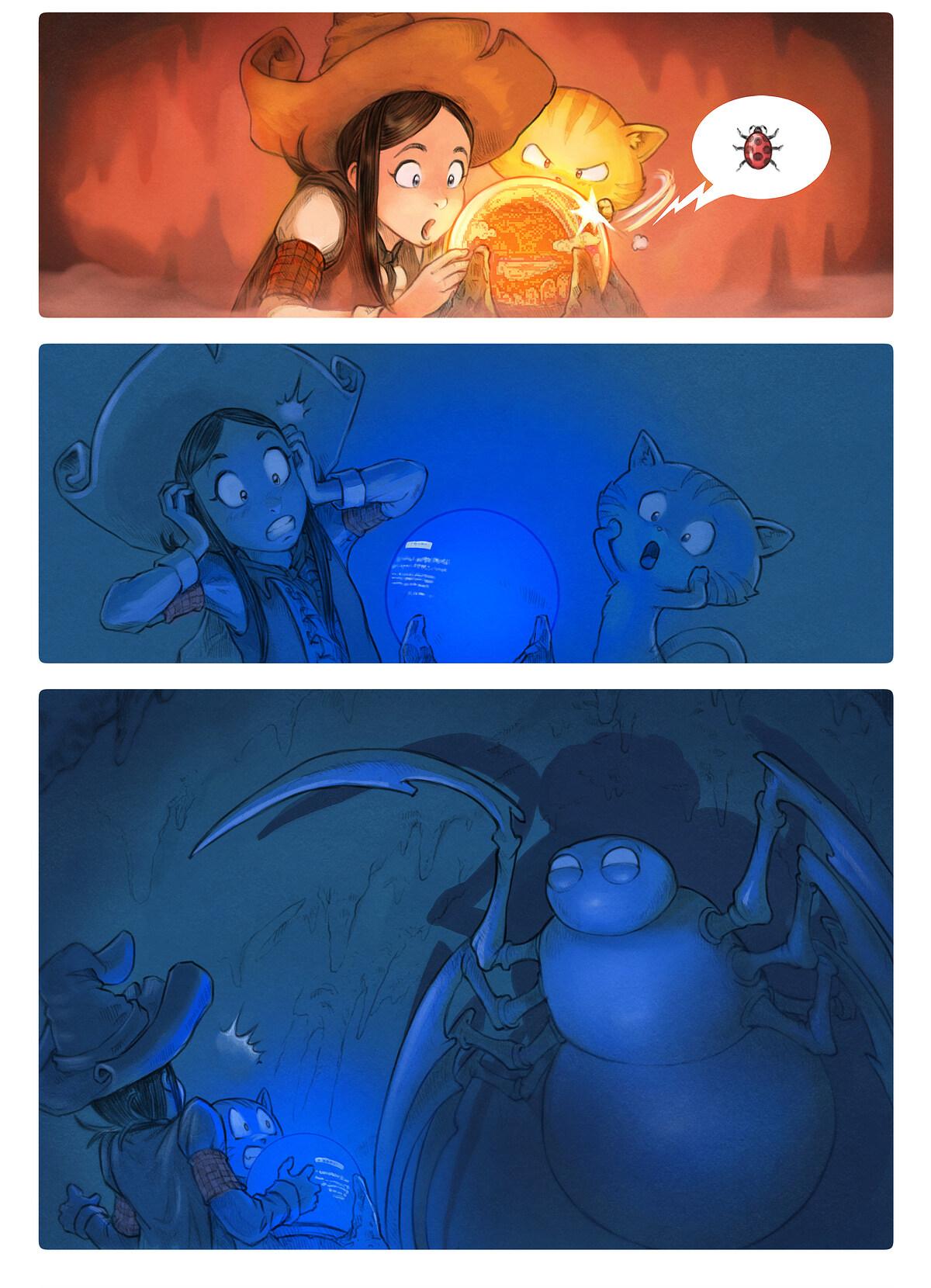 A webcomic page of Pepper&Carrot, epizód 15 [hu], oldal 5