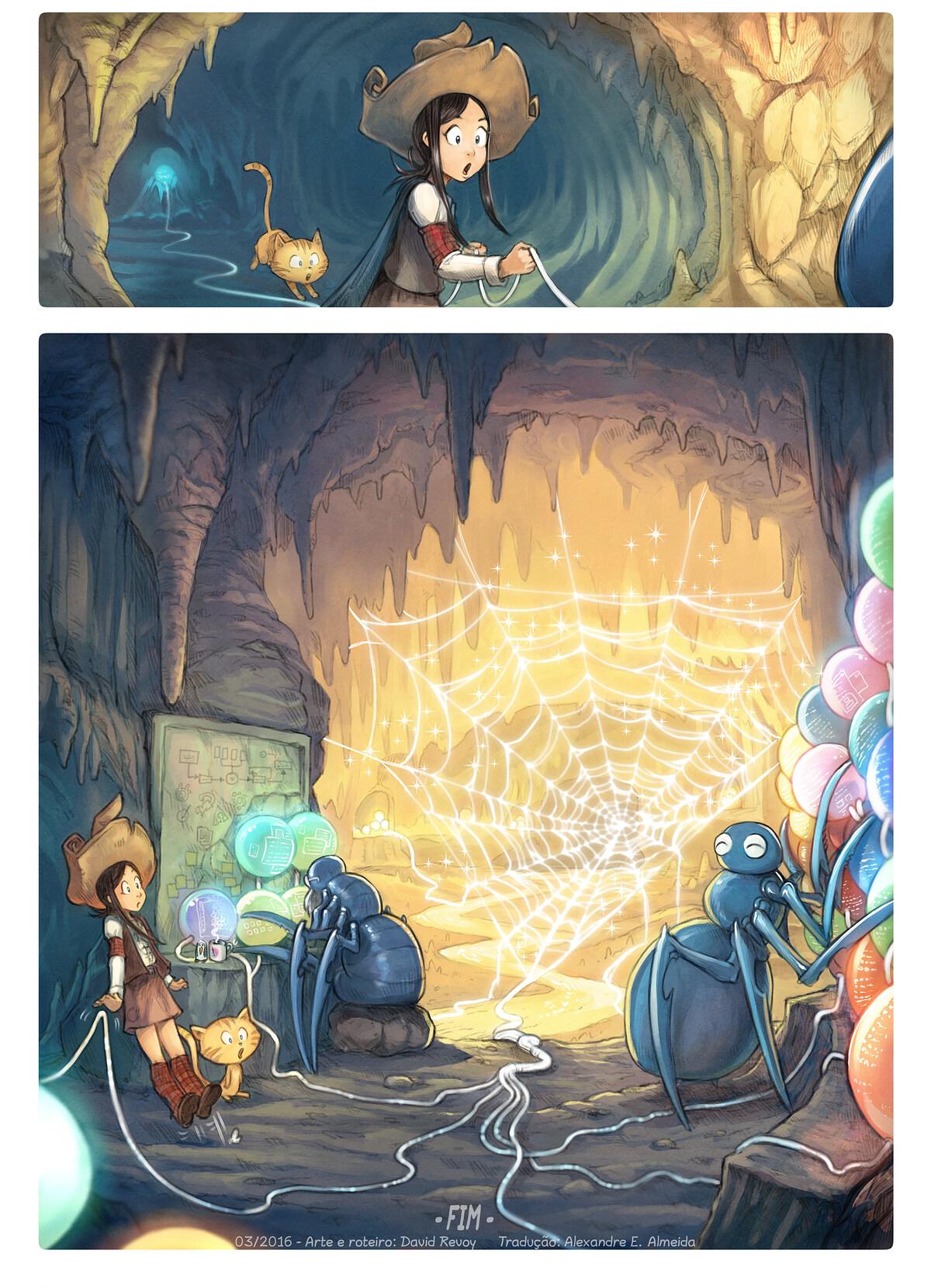 A webcomic page of Pepper&Carrot, episódio 15 [pt], página 8
