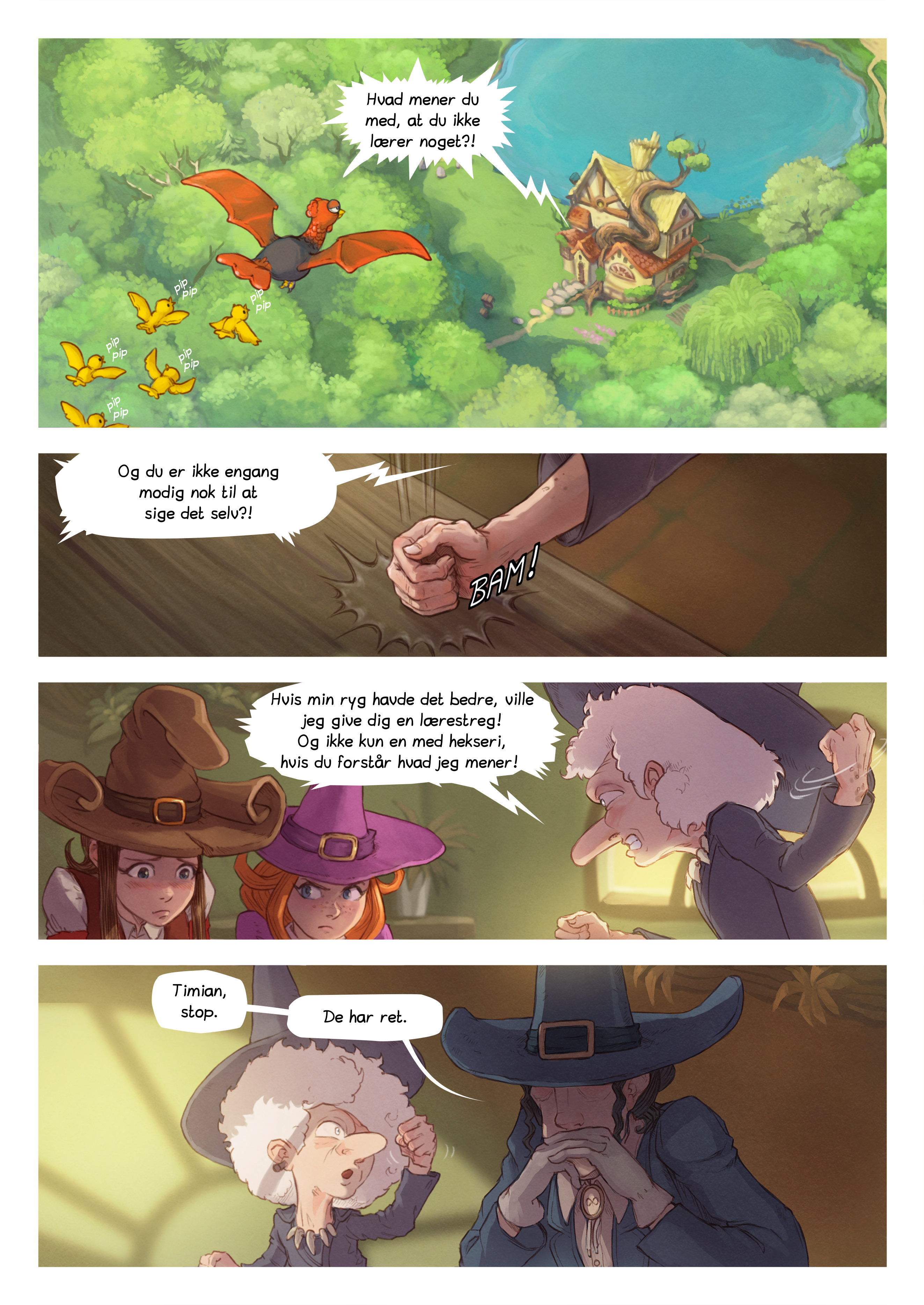 A webcomic page of Pepper&Carrot, episode 16 [da], page 3