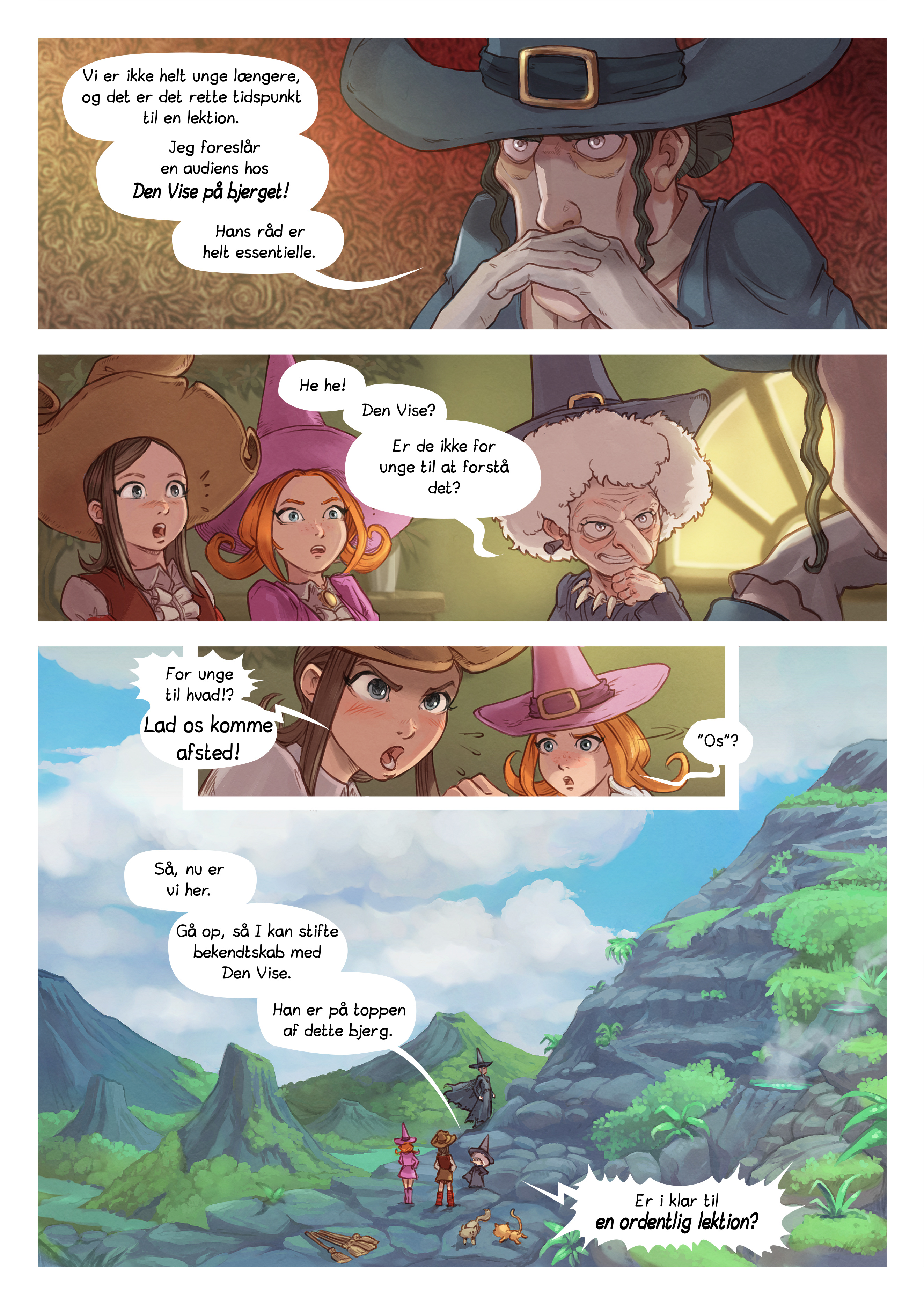 A webcomic page of Pepper&Carrot, episode 16 [da], page 4
