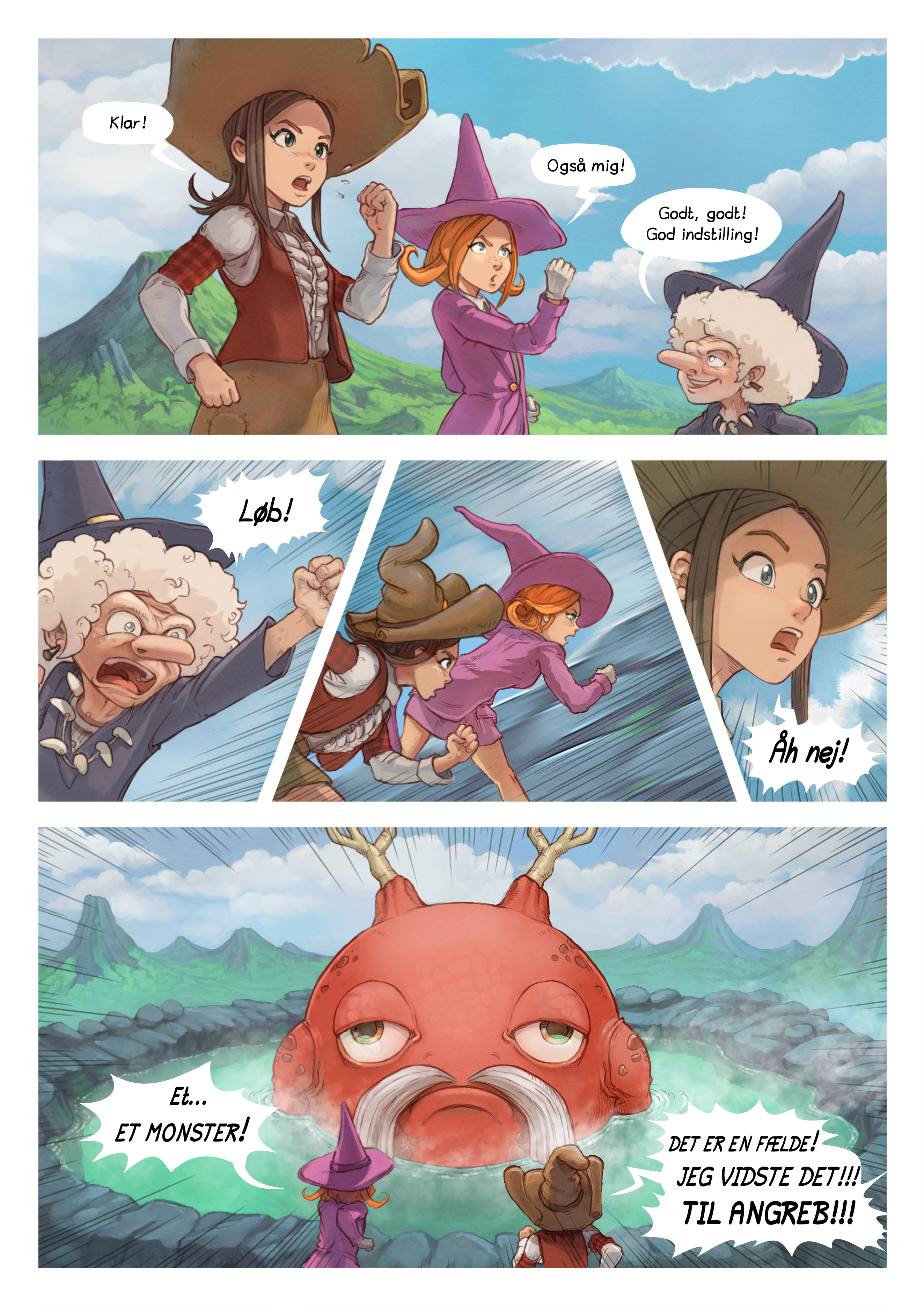 A webcomic page of Pepper&Carrot, episode 16 [da], page 5