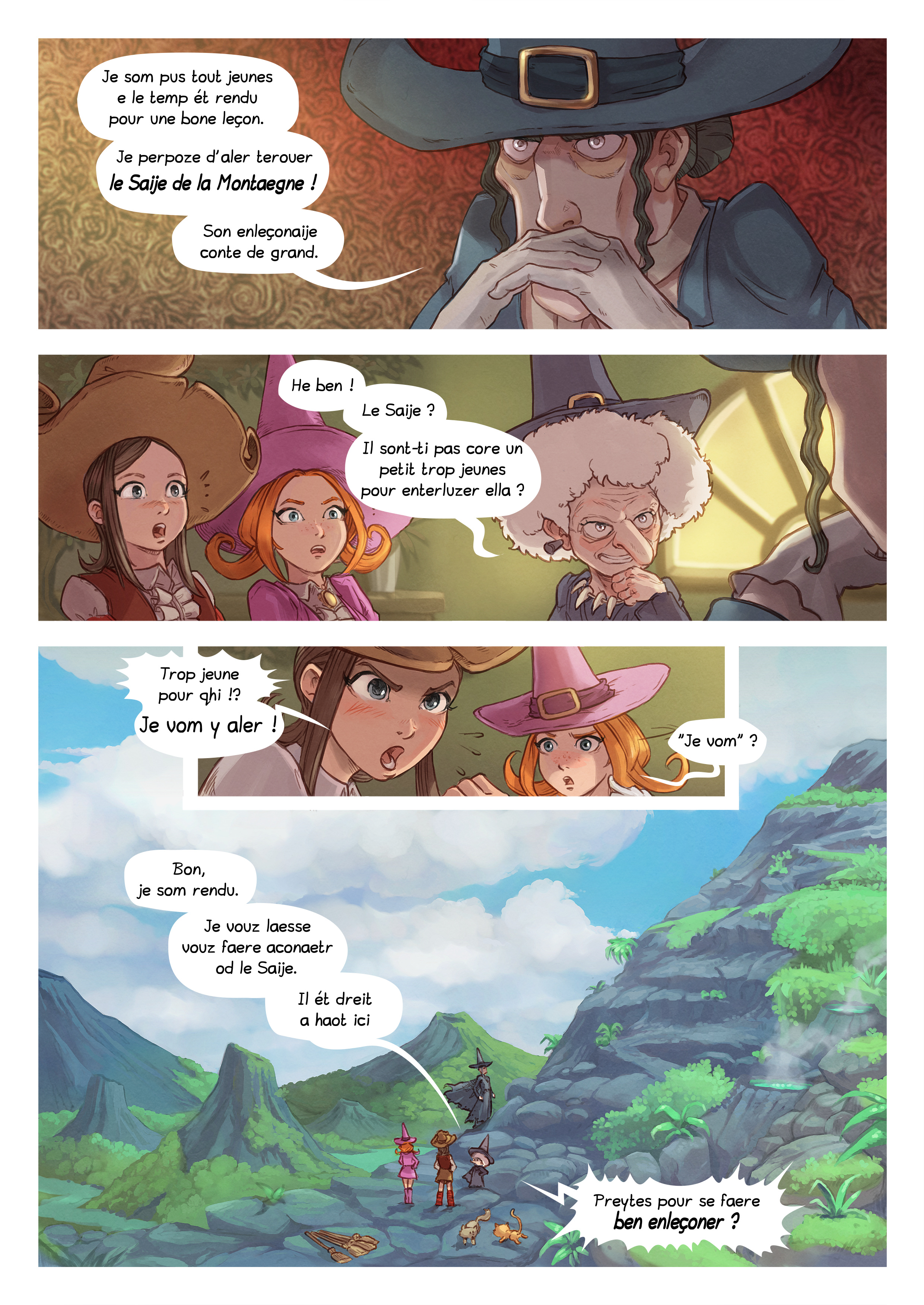 A webcomic page of Pepper&Carrot, episode 16 [go], page 4