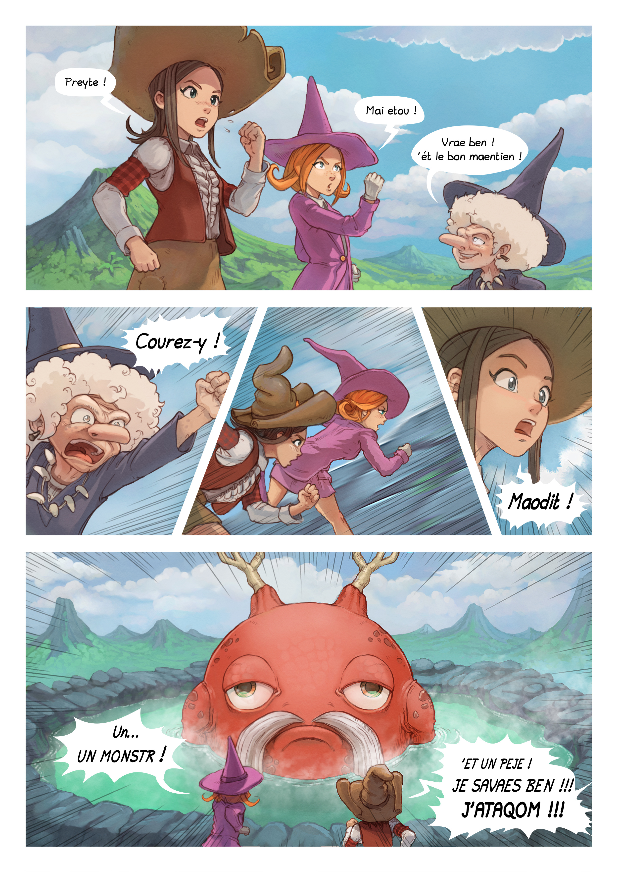 A webcomic page of Pepper&Carrot, episode 16 [go], page 5