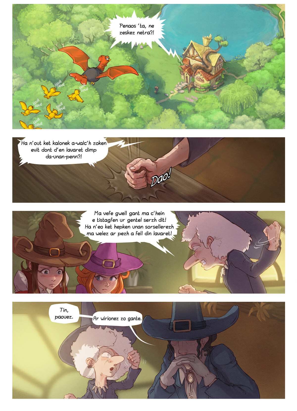 A webcomic page of Pepper&Carrot, rann 16 [br], pajenn 3