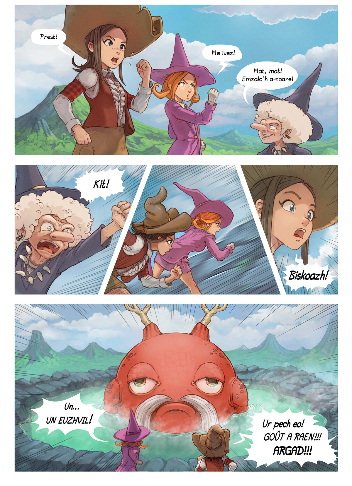 A webcomic page of Pepper&Carrot, rann 16 [br], pajenn 5