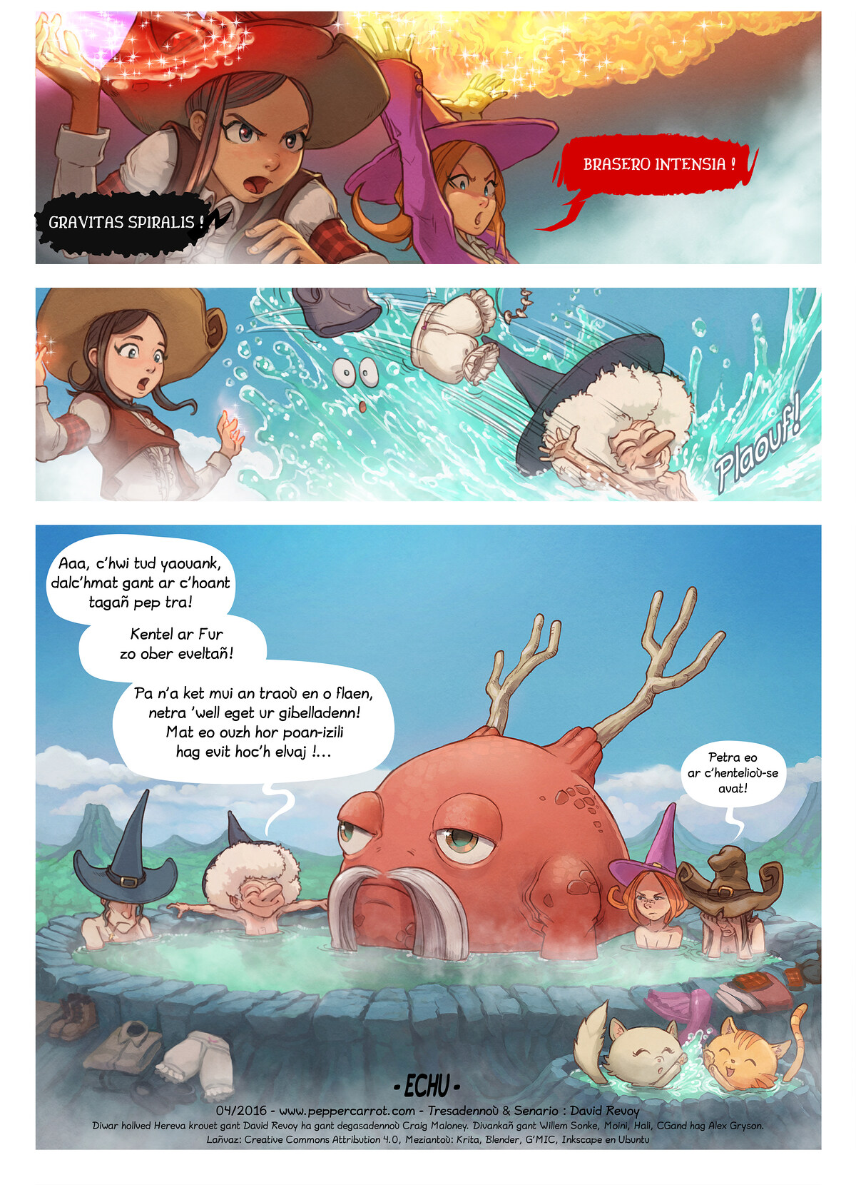 A webcomic page of Pepper&Carrot, rann 16 [br], pajenn 6