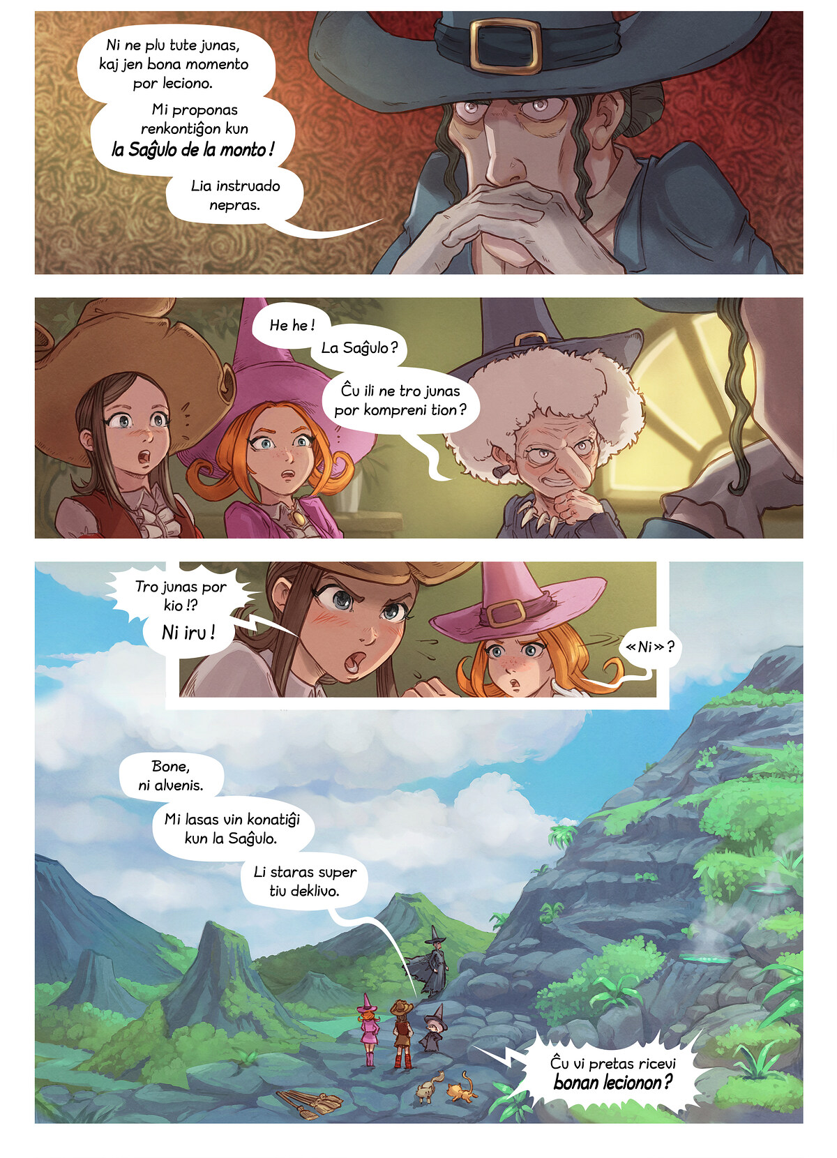 A webcomic page of Pepper&Carrot, rakonto 16 [eo], paĝo 4