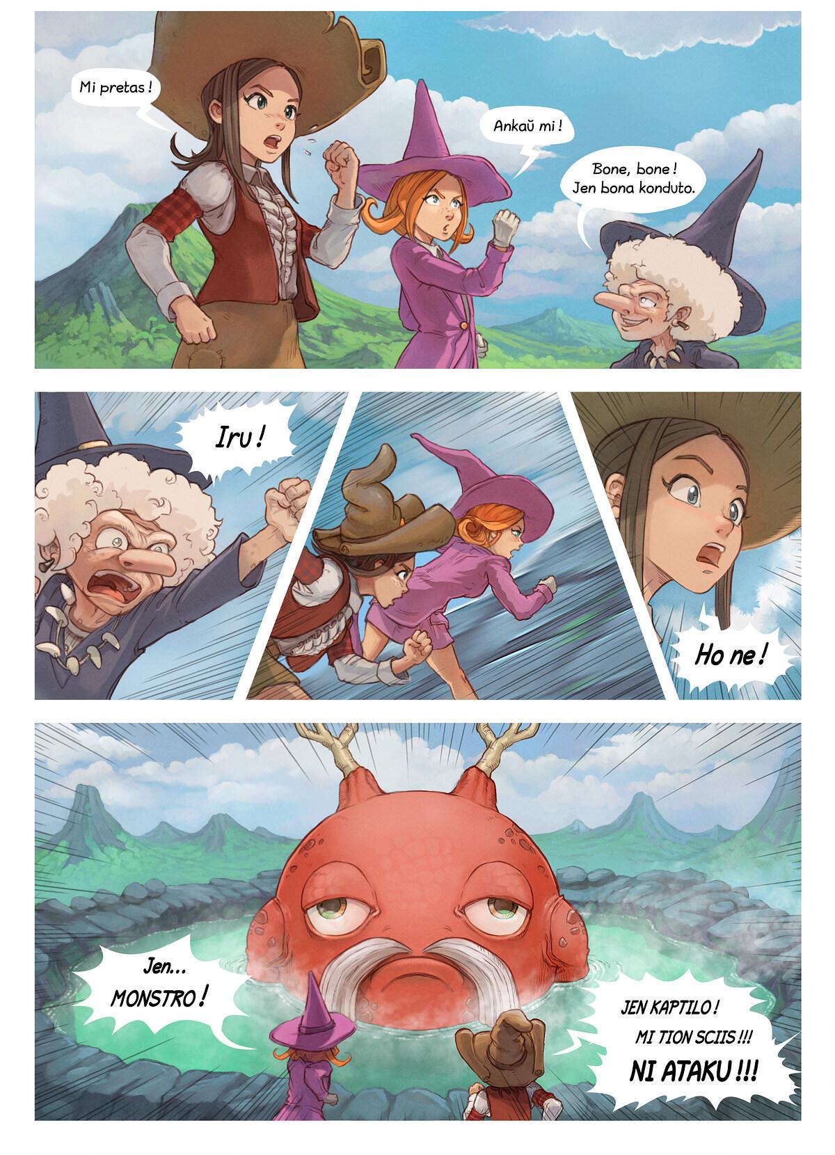 A webcomic page of Pepper&Carrot, rakonto 16 [eo], paĝo 5