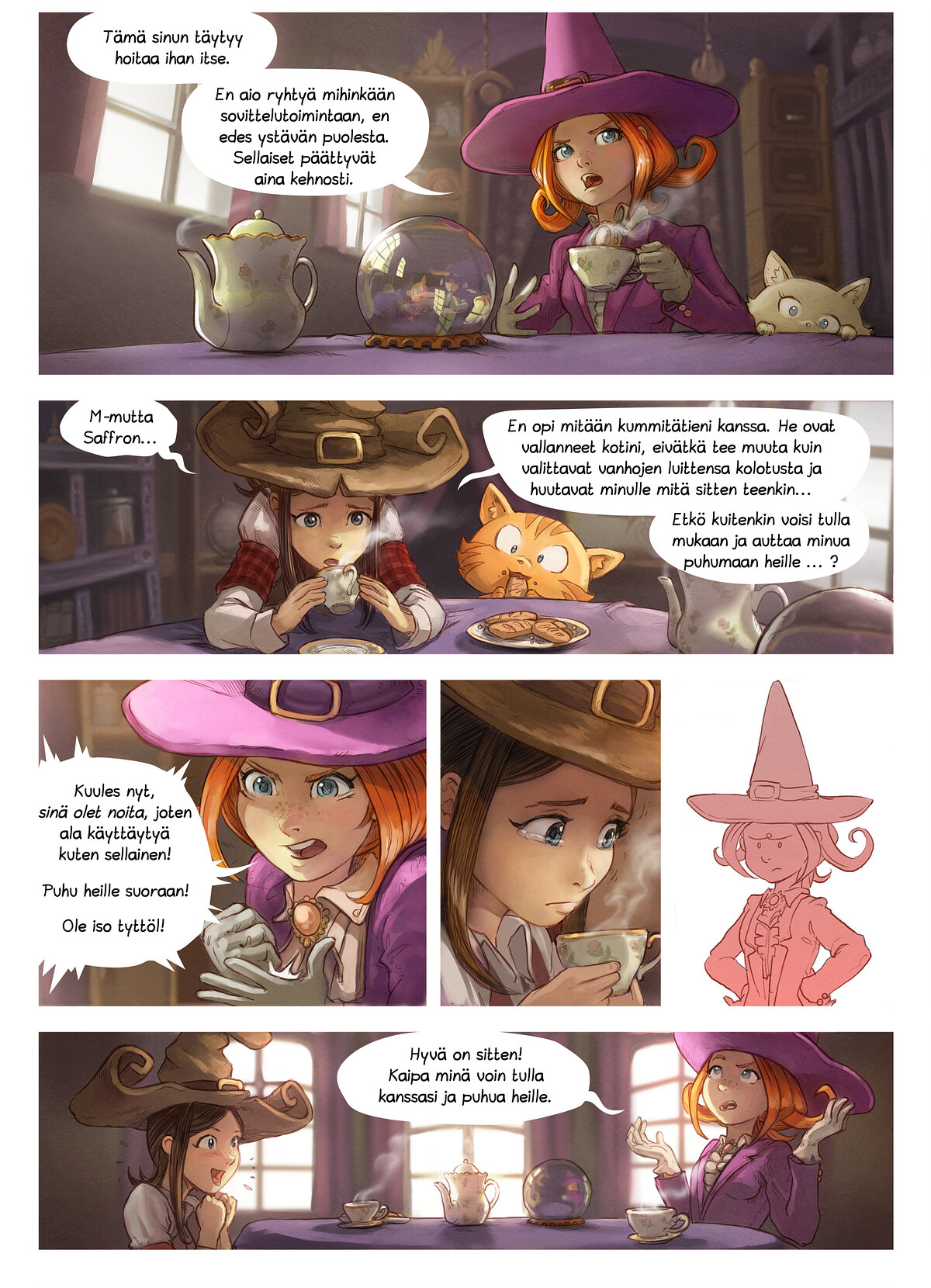 A webcomic page of Pepper&Carrot, episode 16 [fi], page 2