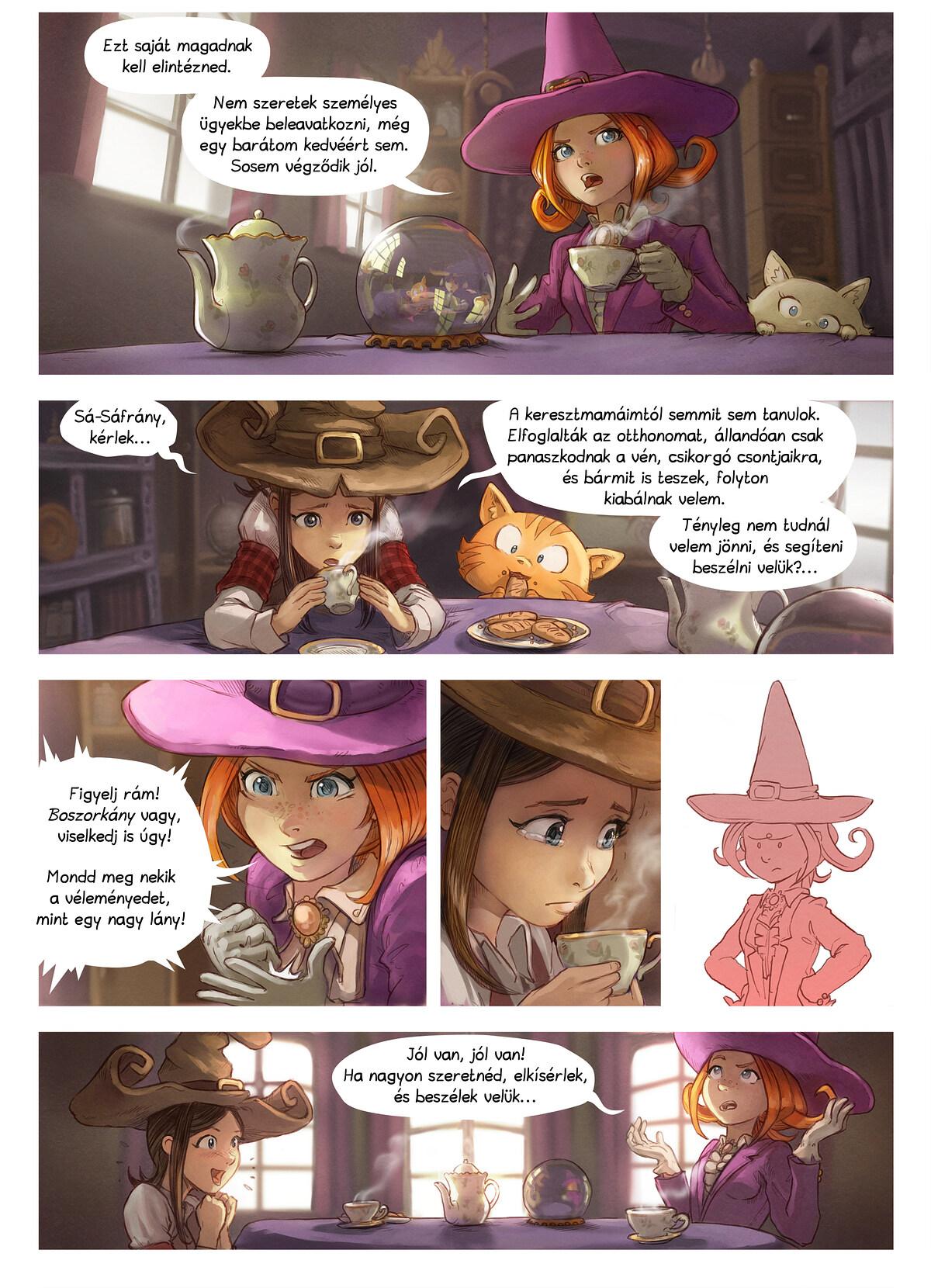 A webcomic page of Pepper&Carrot, epizód 16 [hu], oldal 2
