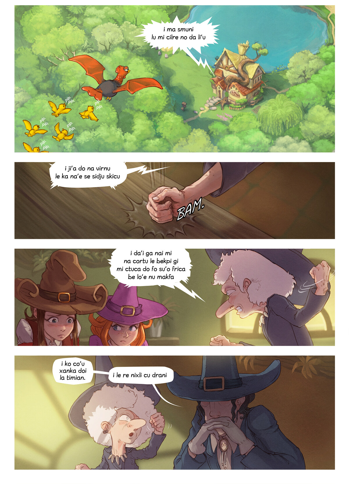 A webcomic page of Pepper&Carrot, pagbu 16 [jb], papri 3