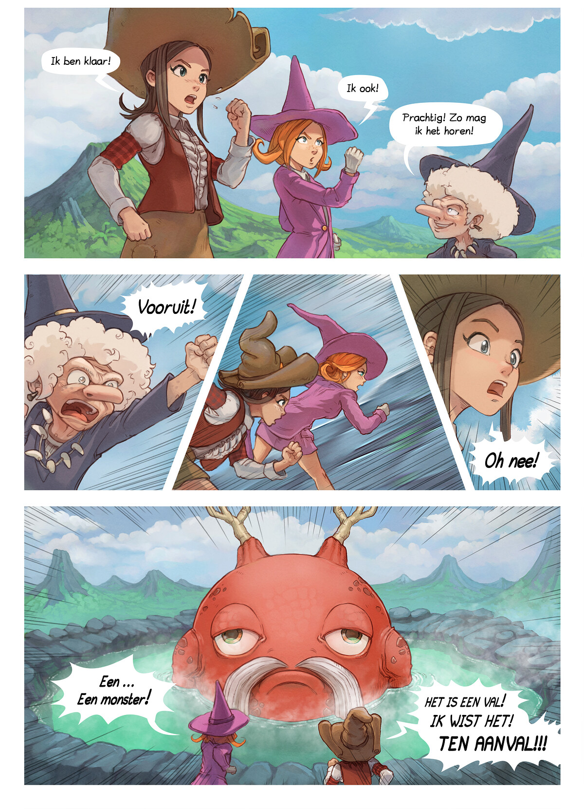 A webcomic page of Pepper&Carrot, aflevering 16 [nl], pagina 5