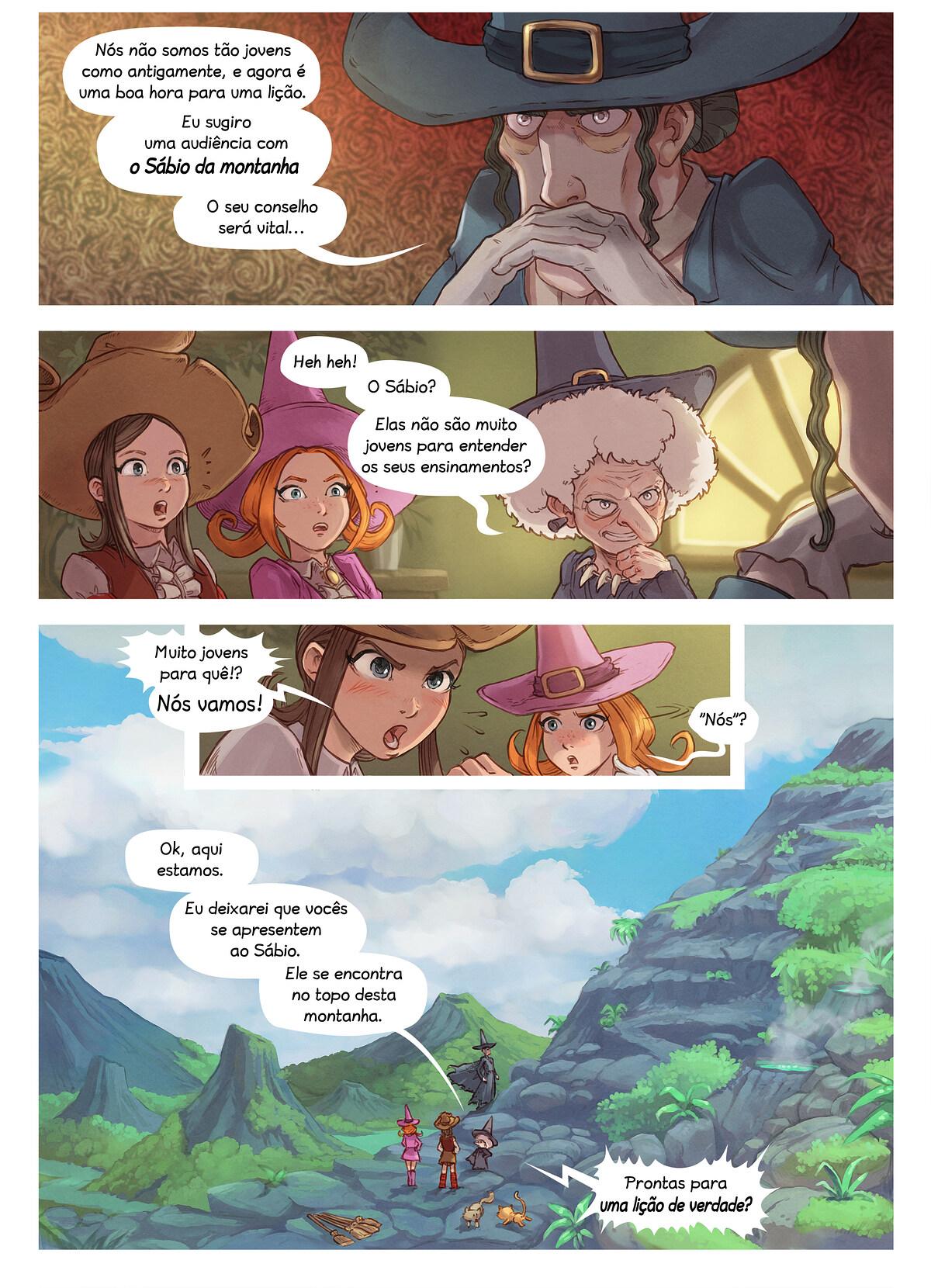 A webcomic page of Pepper&Carrot, episódio 16 [pt], página 4
