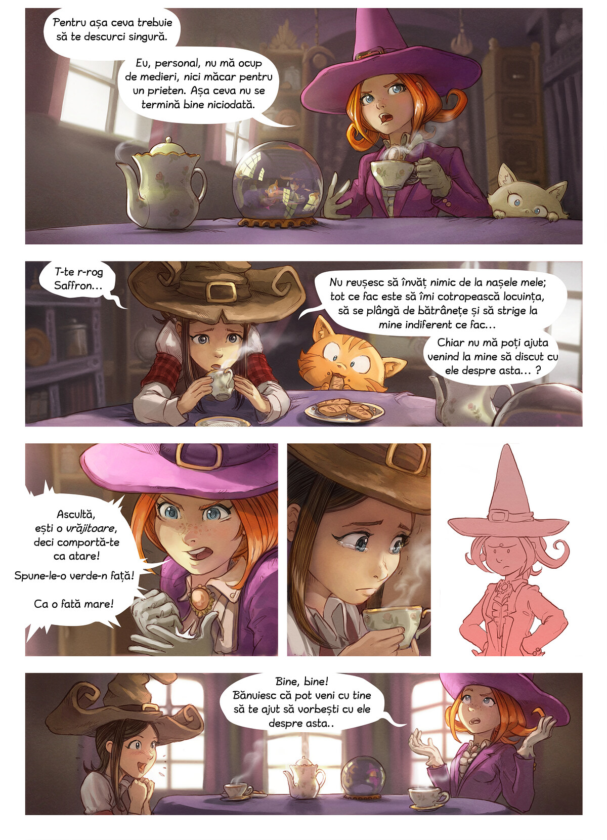A webcomic page of Pepper&Carrot, episode 16 [ro], page 2