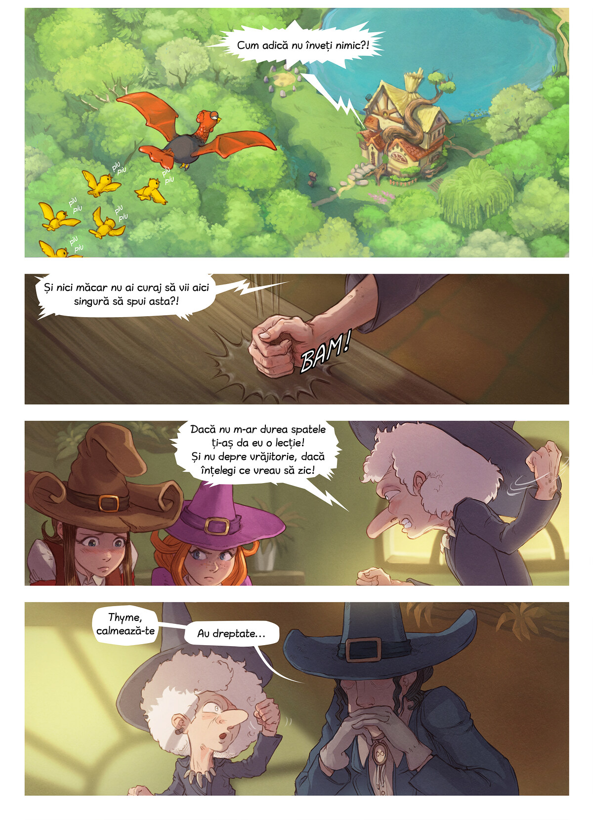 A webcomic page of Pepper&Carrot, episode 16 [ro], page 3