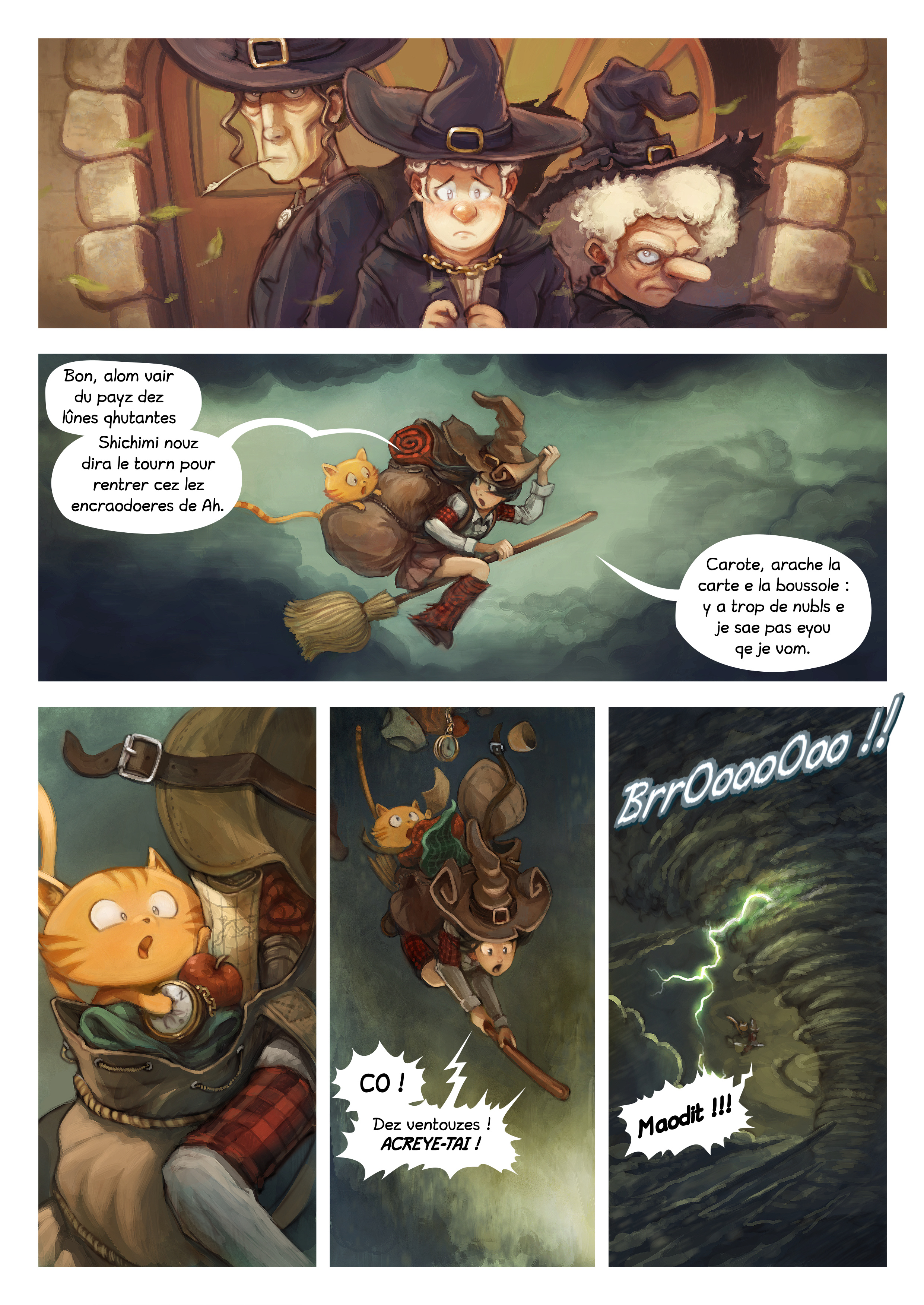 A webcomic page of Pepper&Carrot, episode 17 [go], page 2