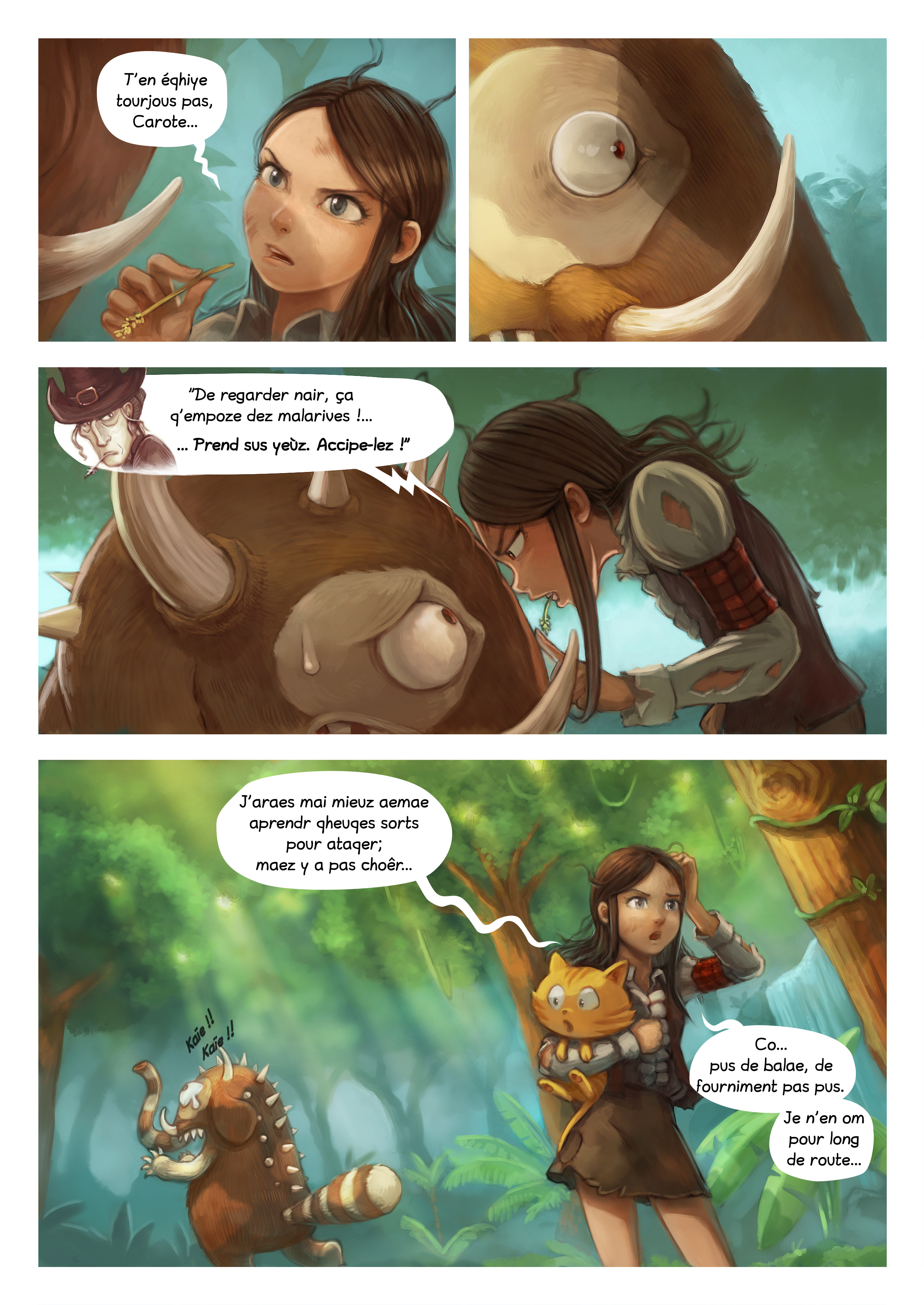A webcomic page of Pepper&Carrot, episode 17 [go], page 4