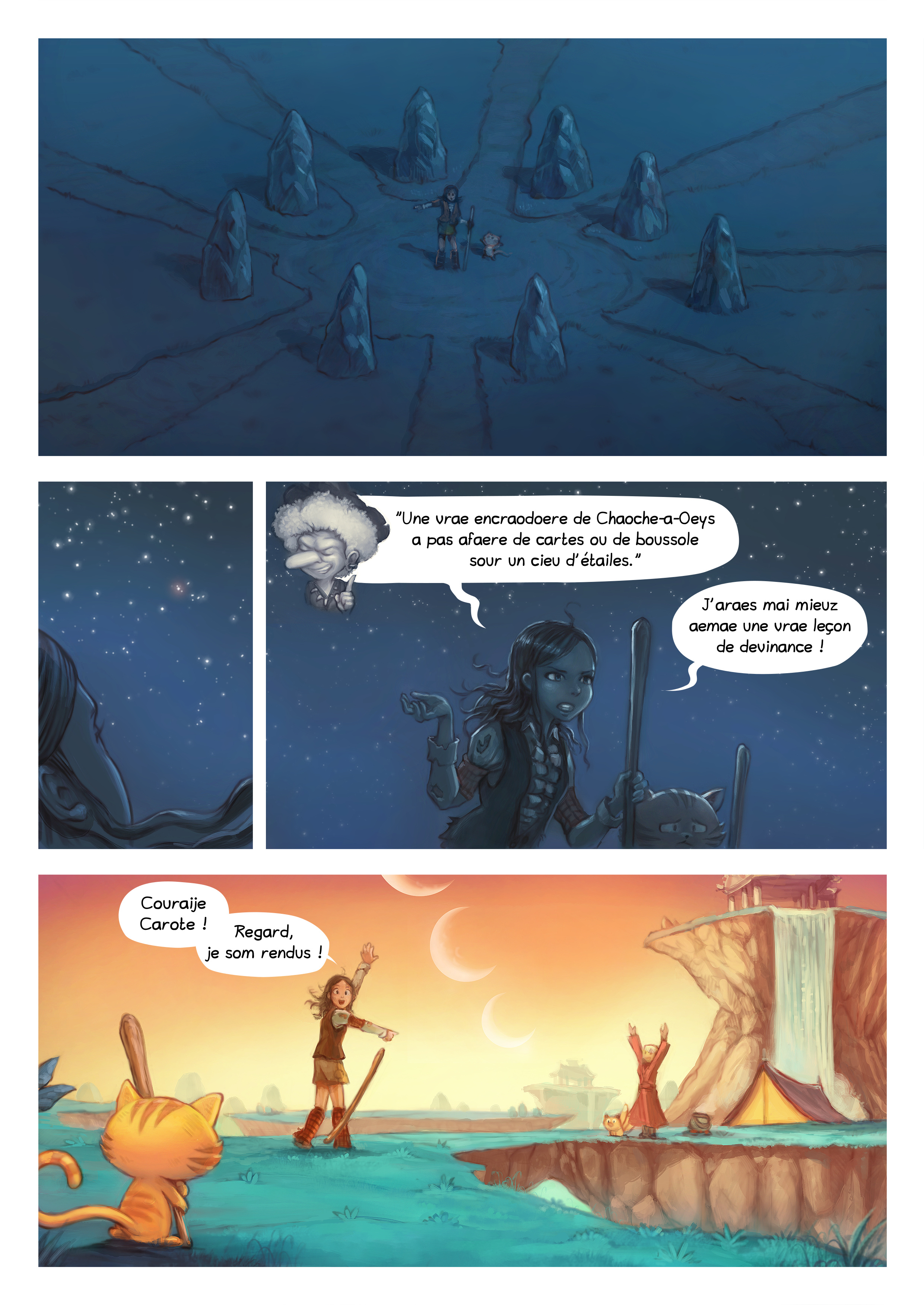 A webcomic page of Pepper&Carrot, episode 17 [go], page 6