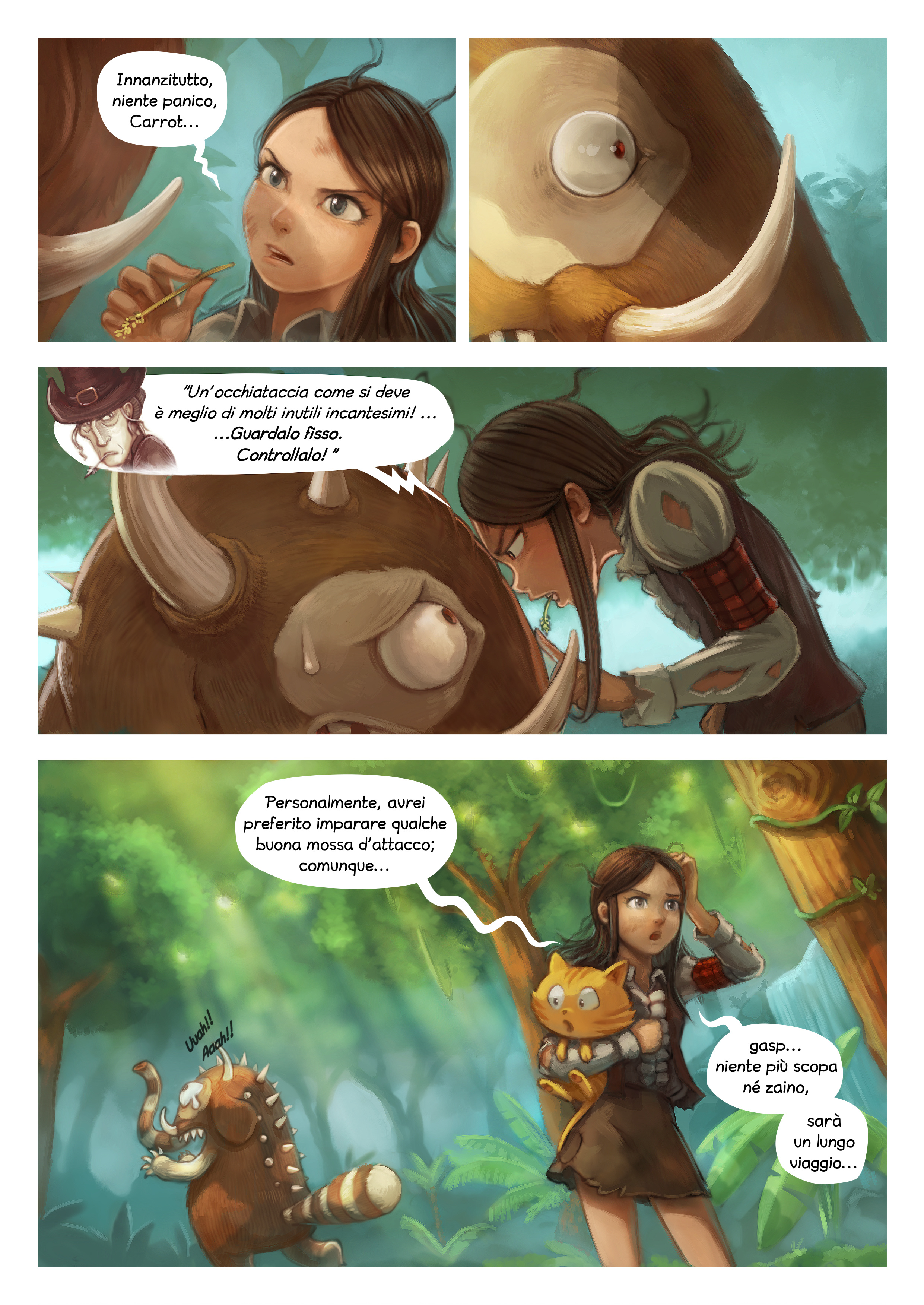 A webcomic page of Pepper&Carrot, episodio 17 [it], pagina 4