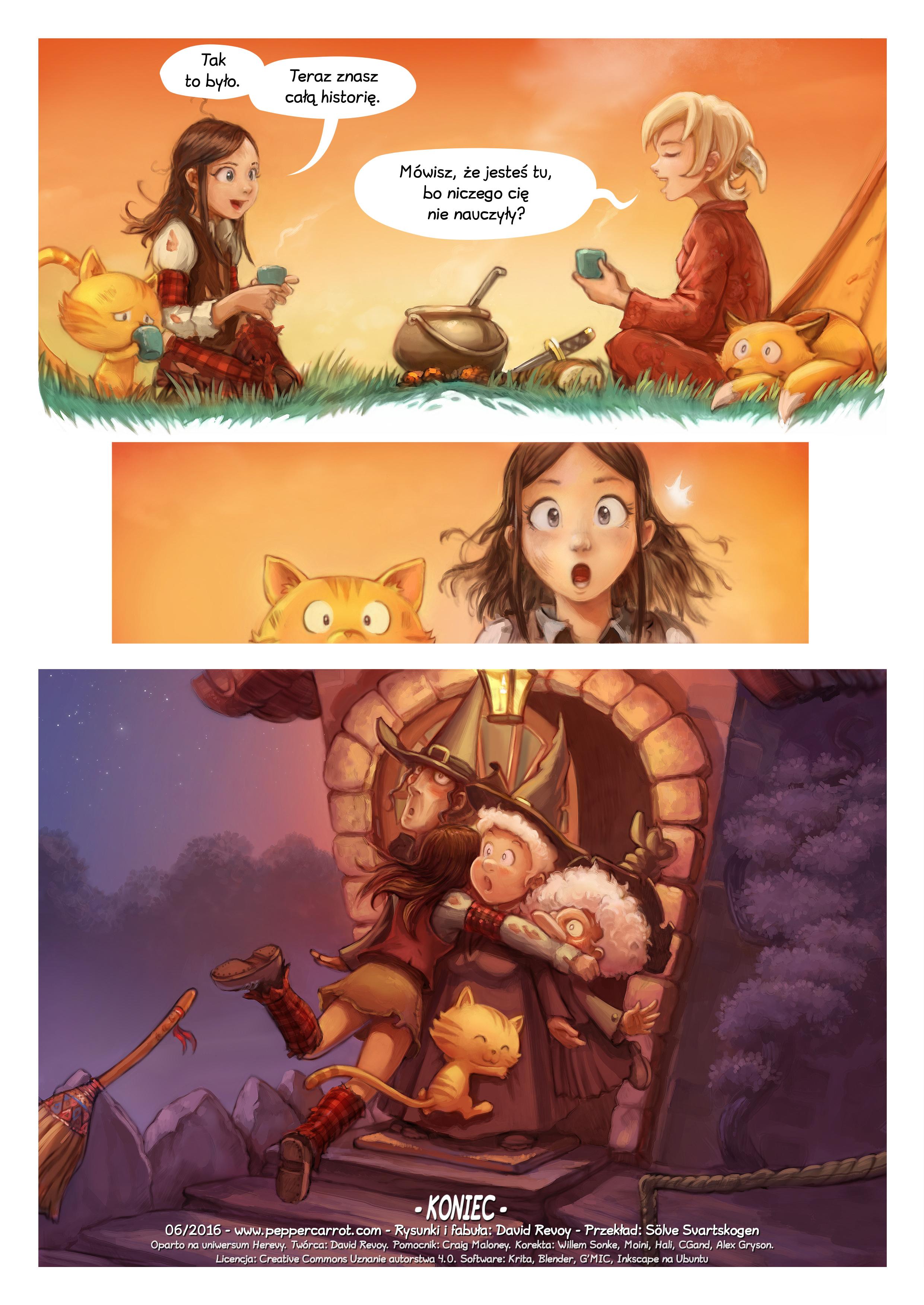 A webcomic page of Pepper&Carrot, odcinek 17 [pl], strona 7