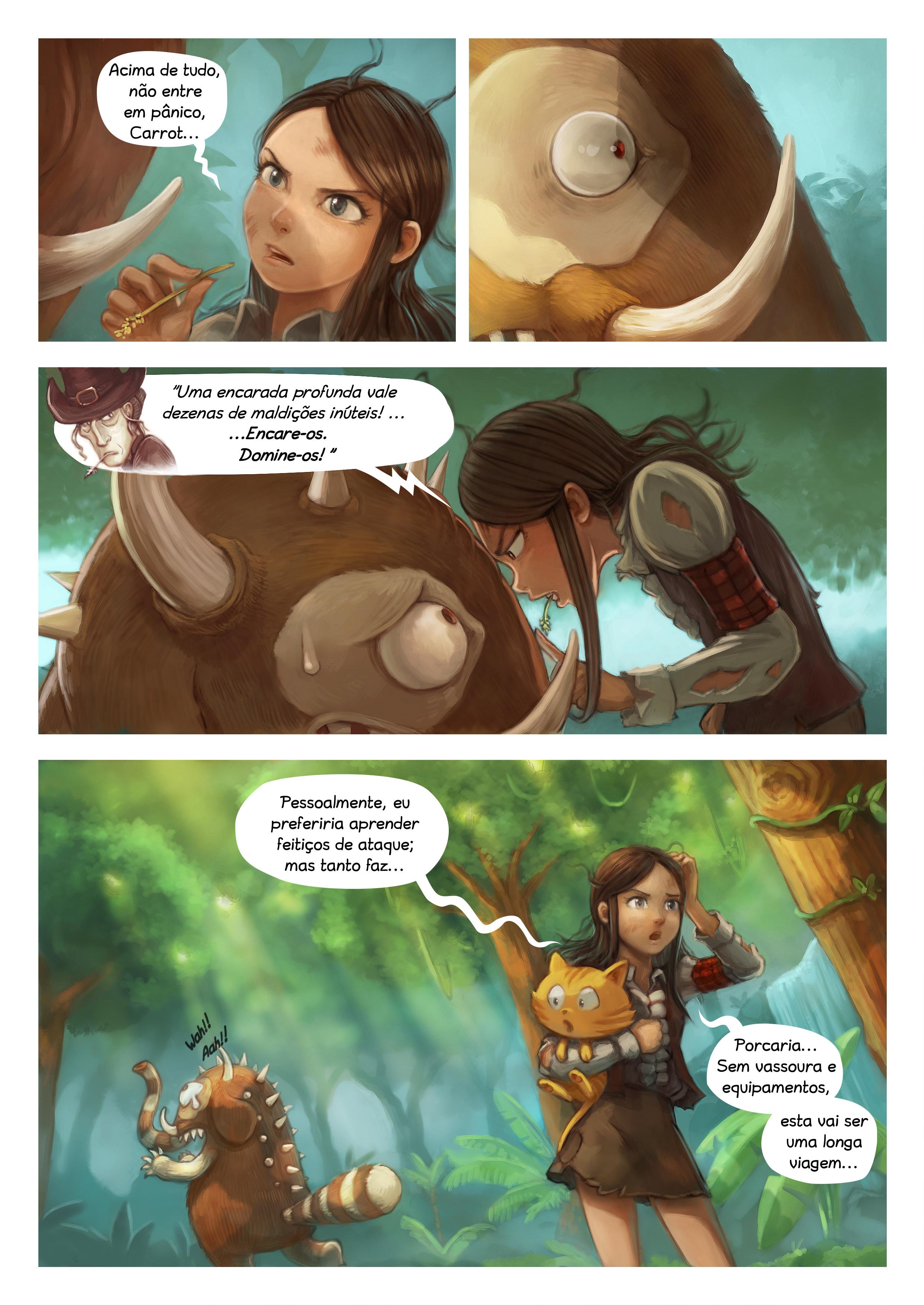 A webcomic page of Pepper&Carrot, episódio 17 [pt], página 4